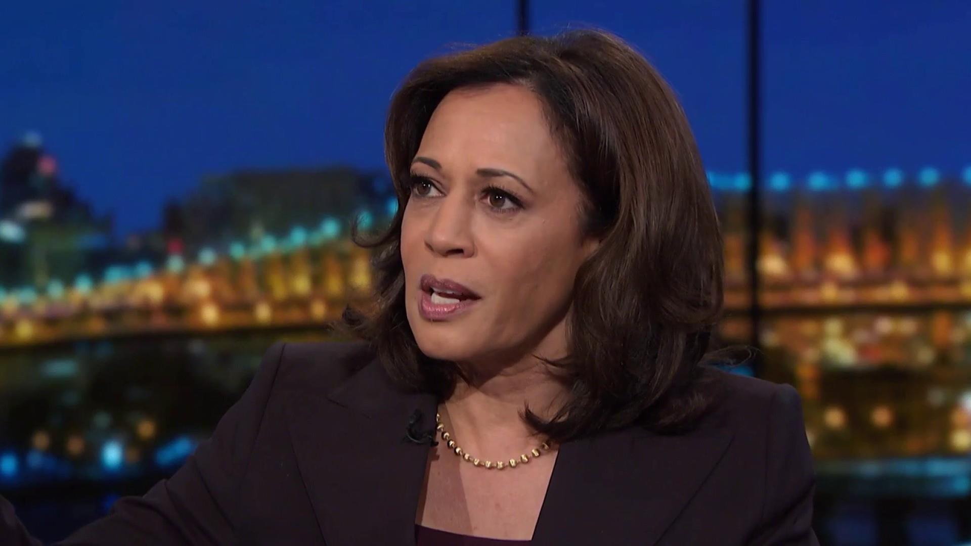 Harris: Trump White House choreographed 'sham' Kavanaugh hearing