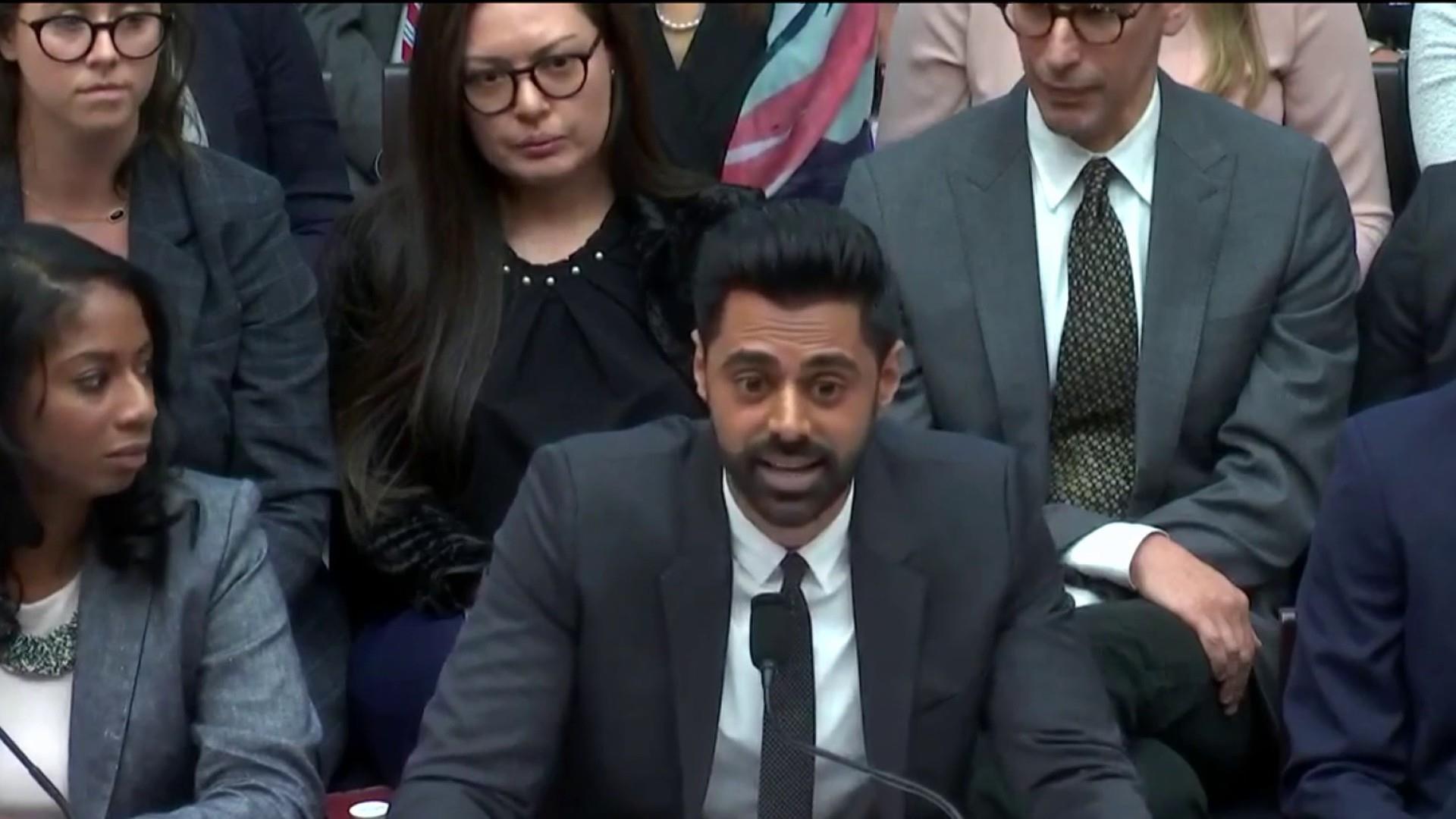 Comedian Hasan Minhaj testifies before Congress