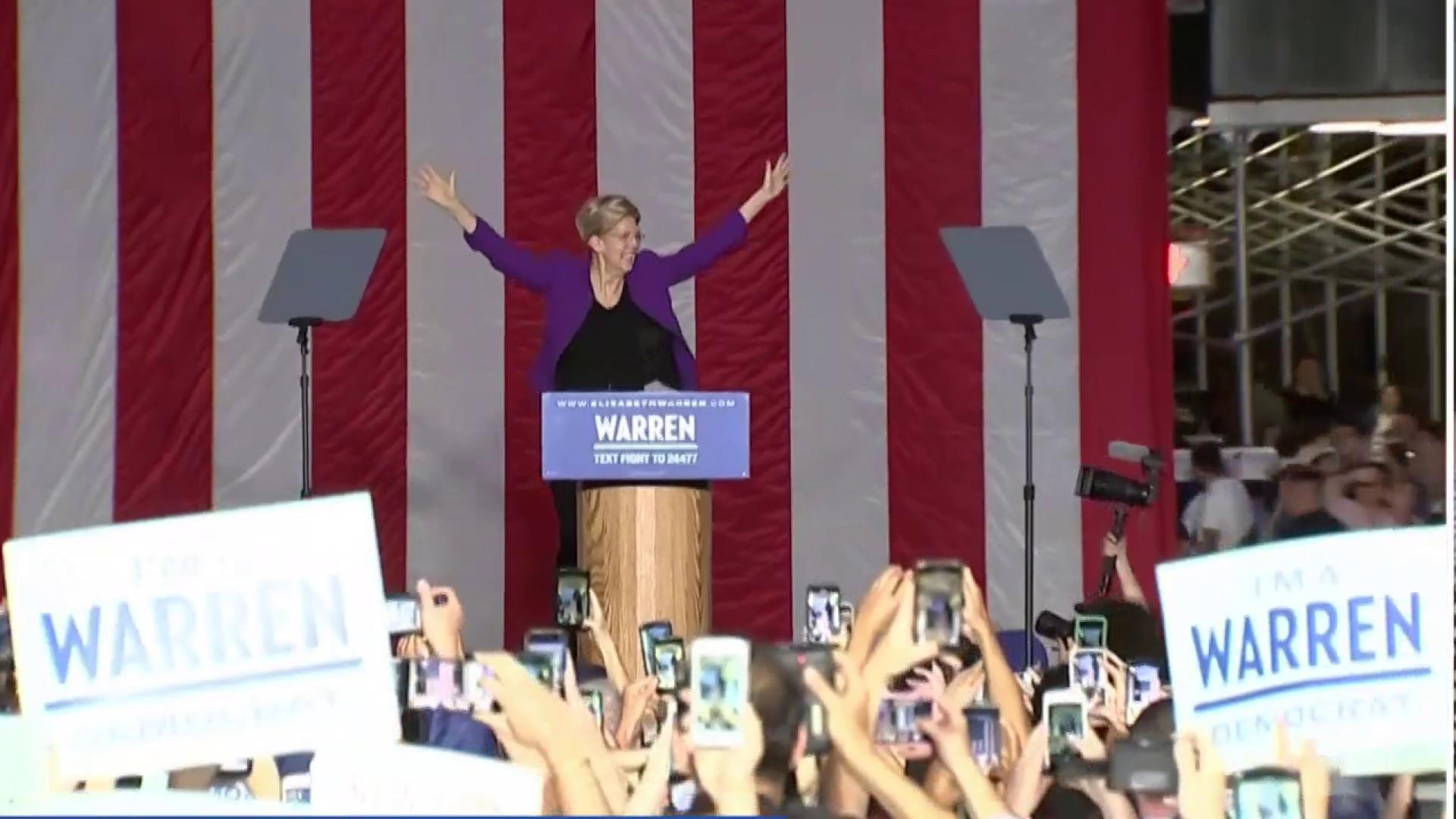 NBC/WSJ poll: Biden adds to lead, Warren surges