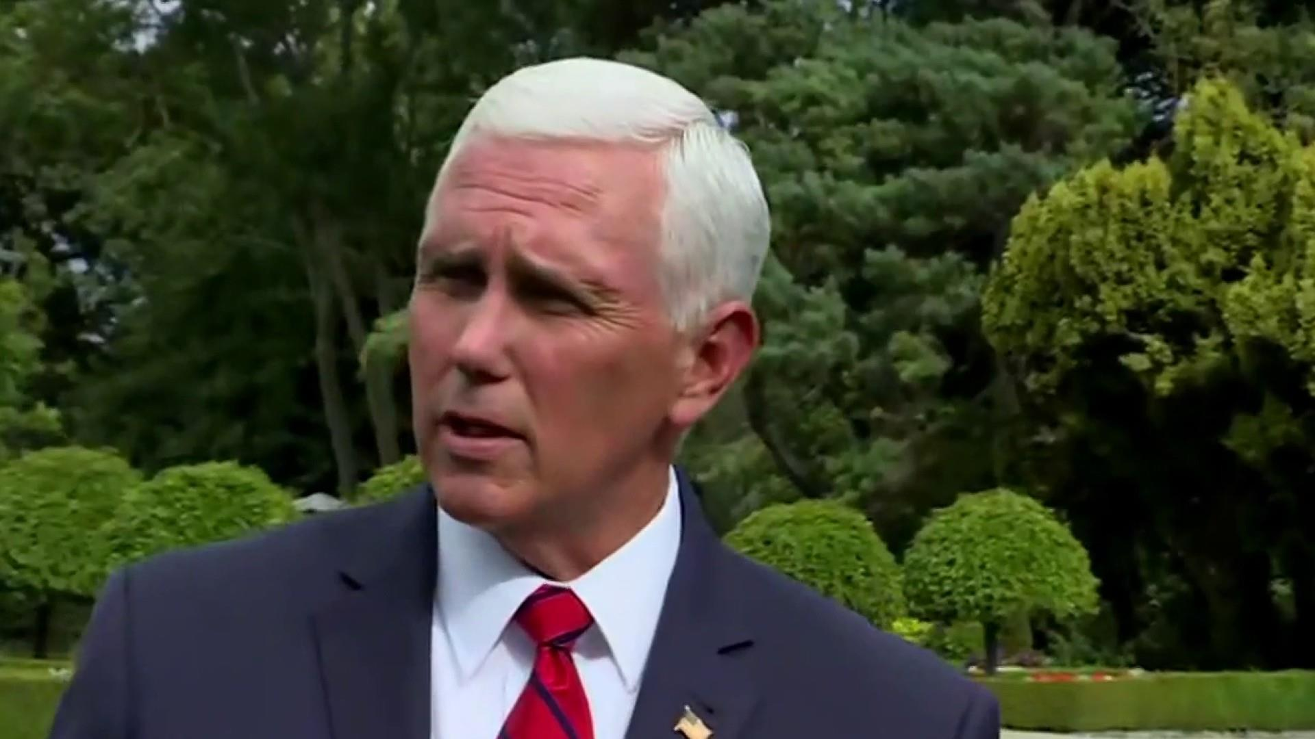 VP Pence defends decision to stay at President Trump's Ireland hotel