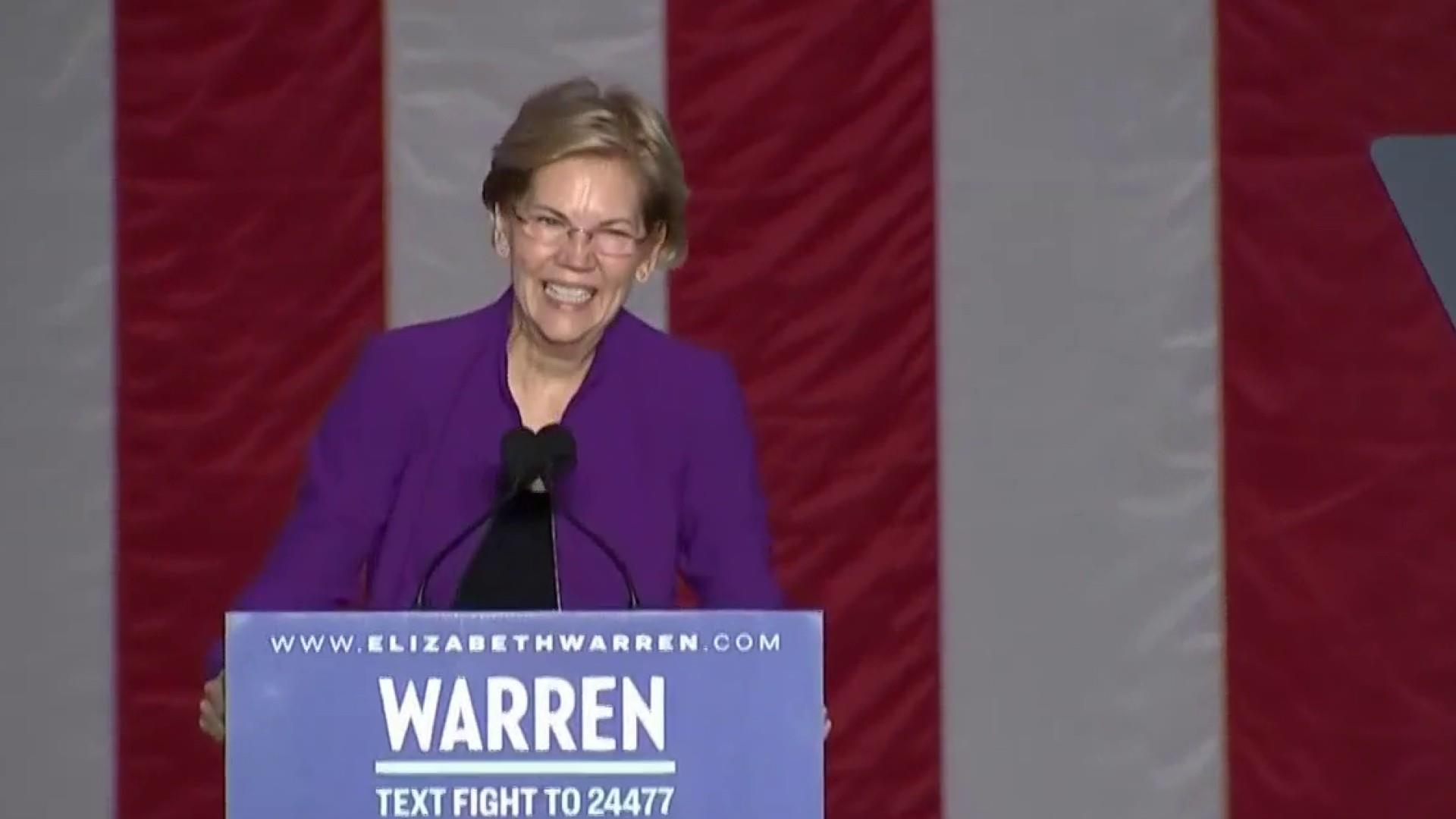 New poll shows Warren's rise continues after debate