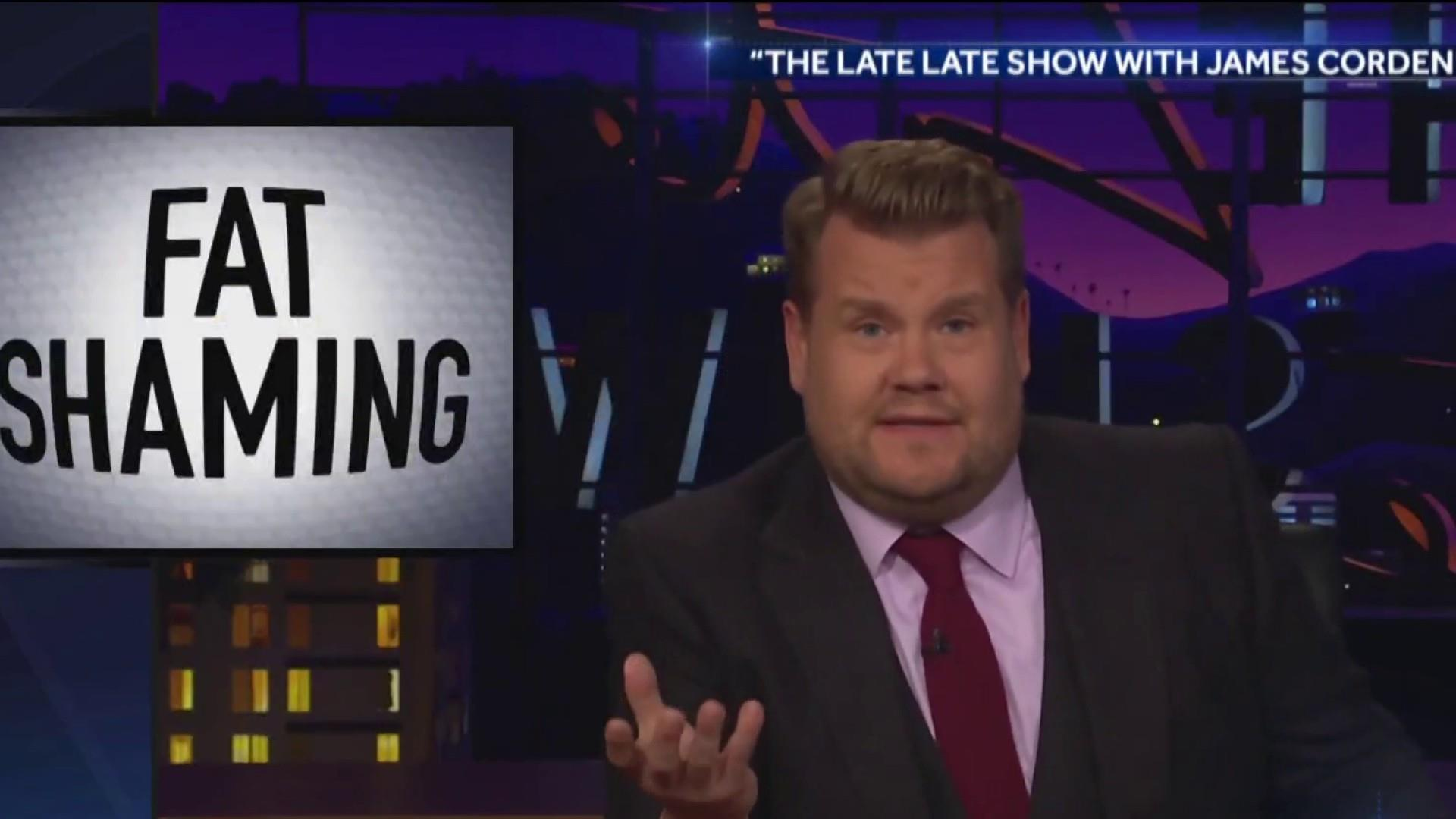 James Corden's personal response to fat shaming comments