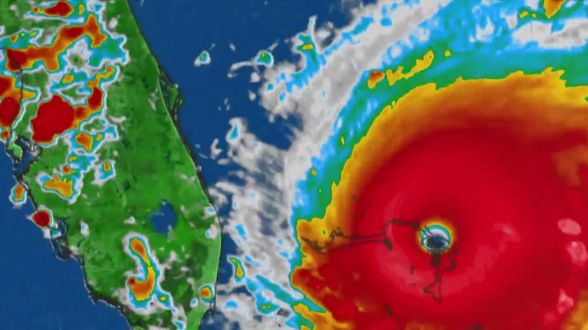 Mandatory evacuations ordered in Florida after Hurricane Dorian batters the Bahamas