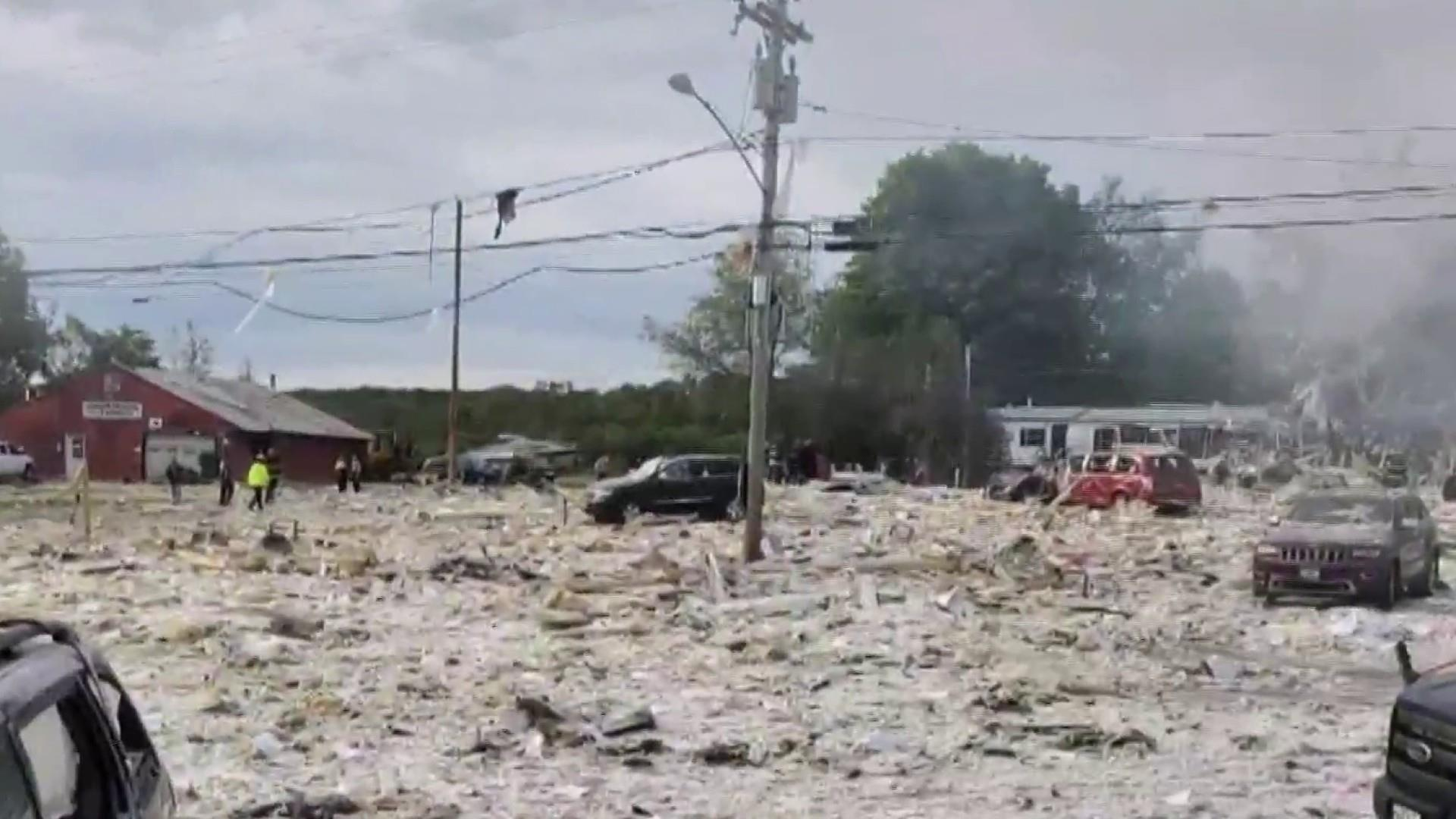 Massive gas explosion kills firefighter, injures several other people