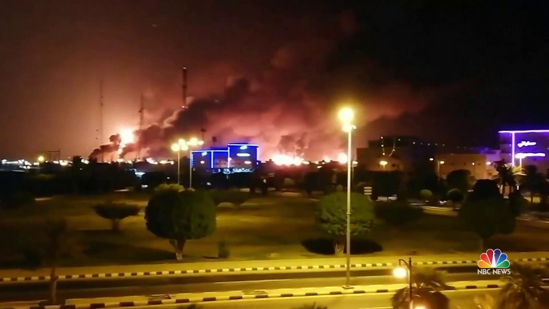 World's largest oil processing facility in Saudi Arabia in flames after drone attack