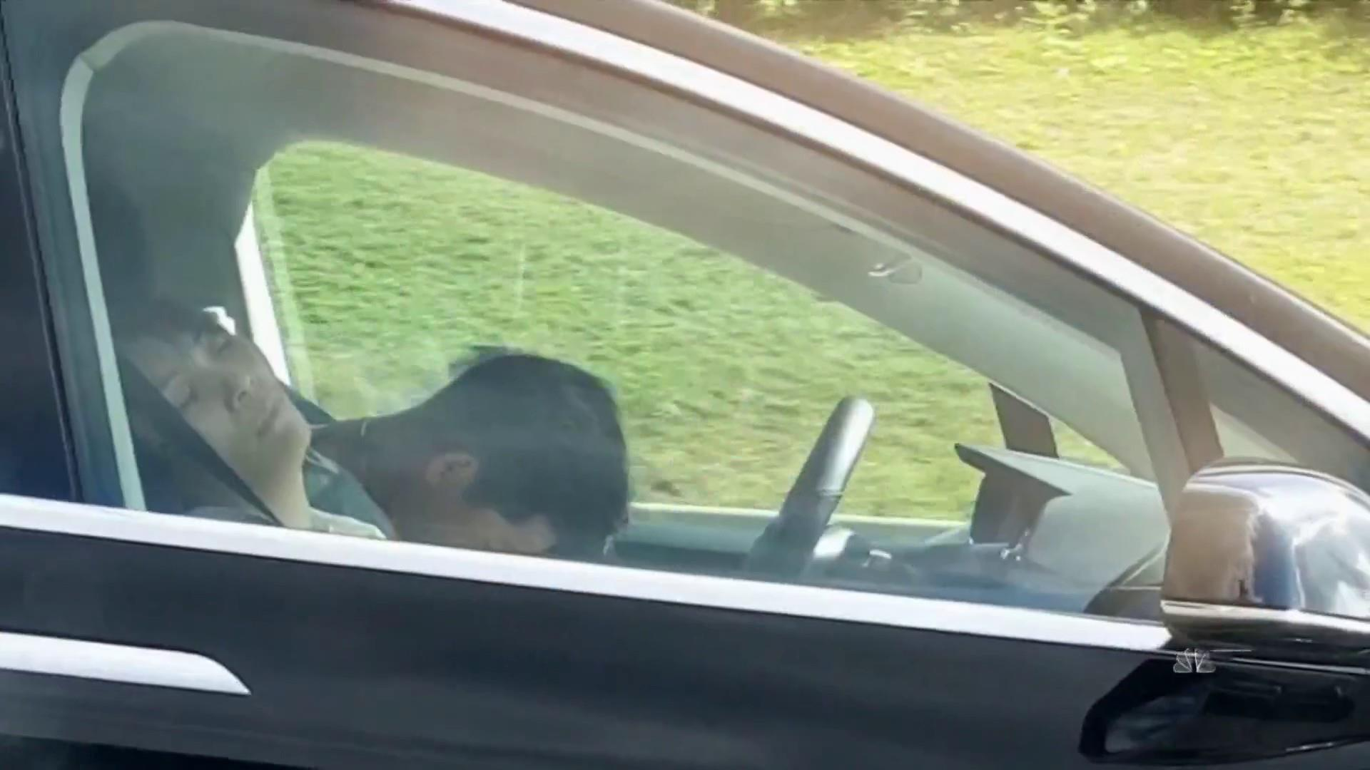 Tesla driver caught on camera apparently asleep at the wheel