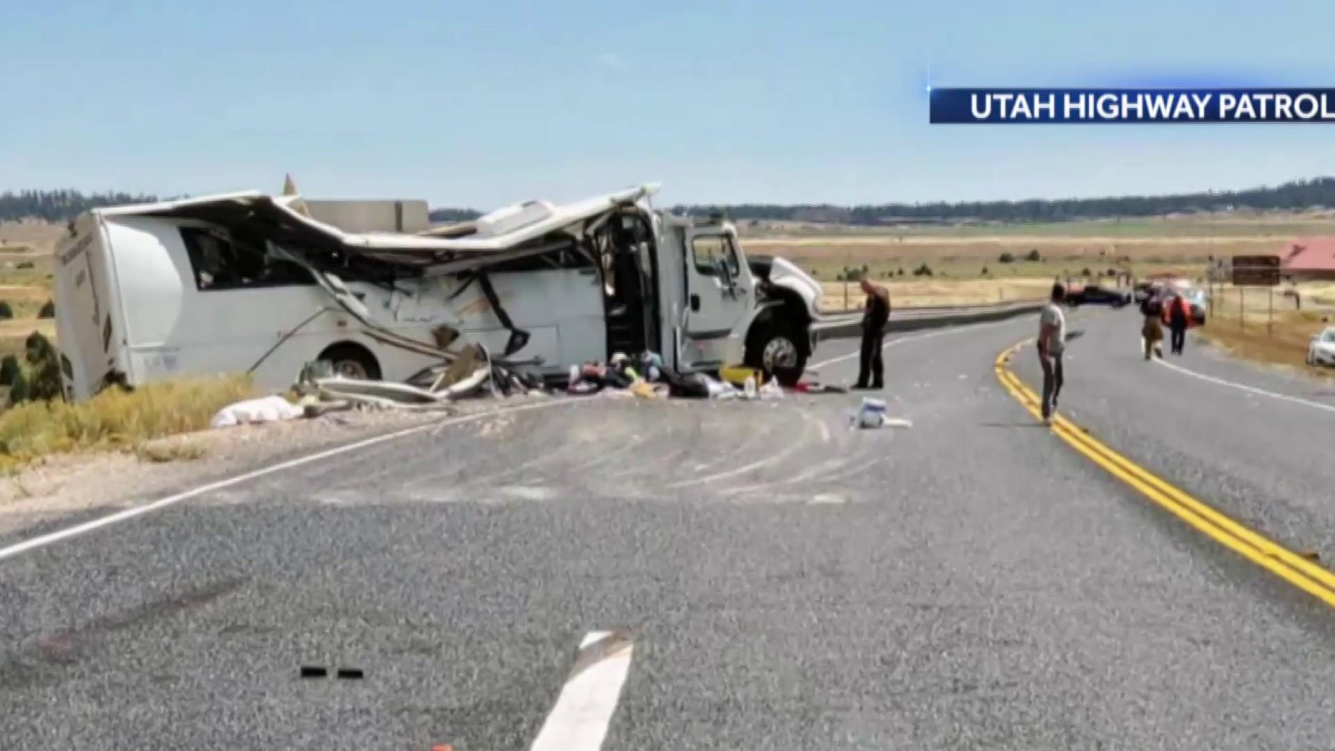 At least four killed in Utah bus crash near Bryce Canyon