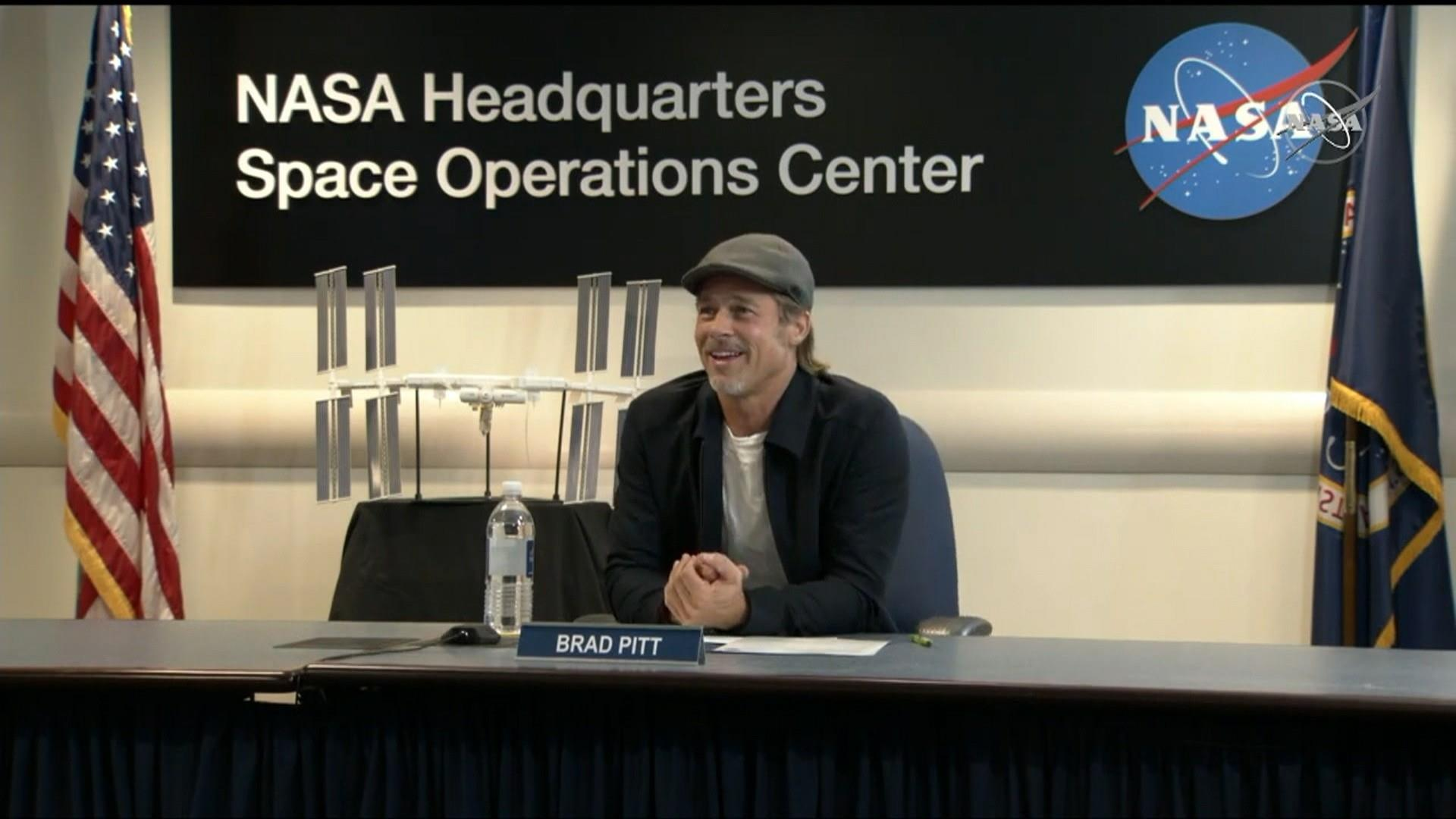 Brad Pitt interviews NASA astronaut in space ahead of new movie