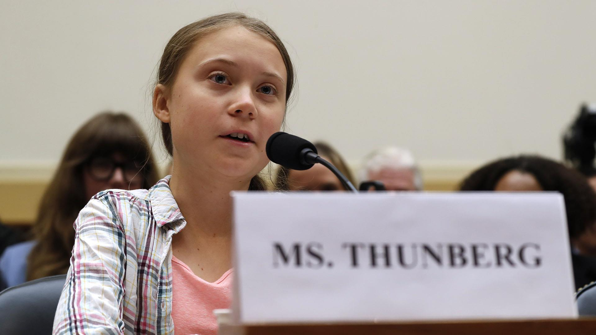 Teen climate activist Greta Thunberg tells Congress: 'Unite behind the science'