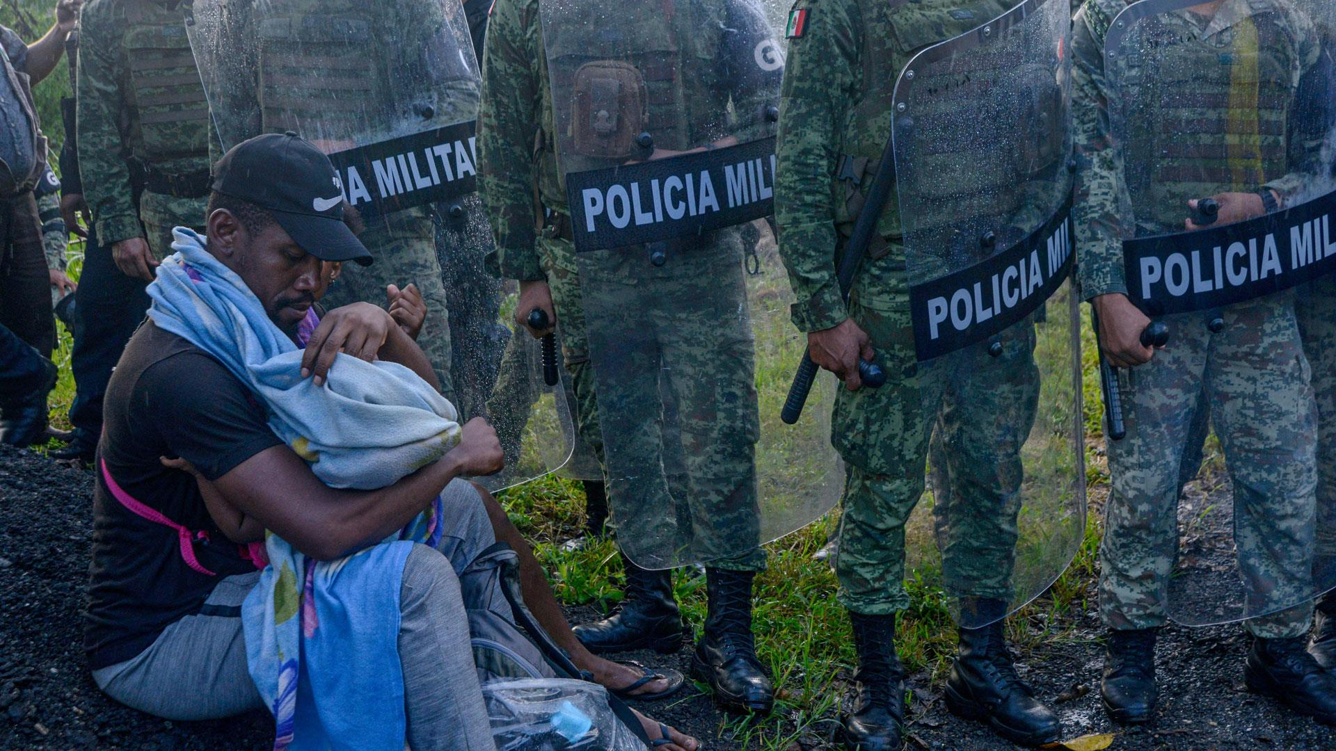 Migrants in Mexico blocked from traveling further north