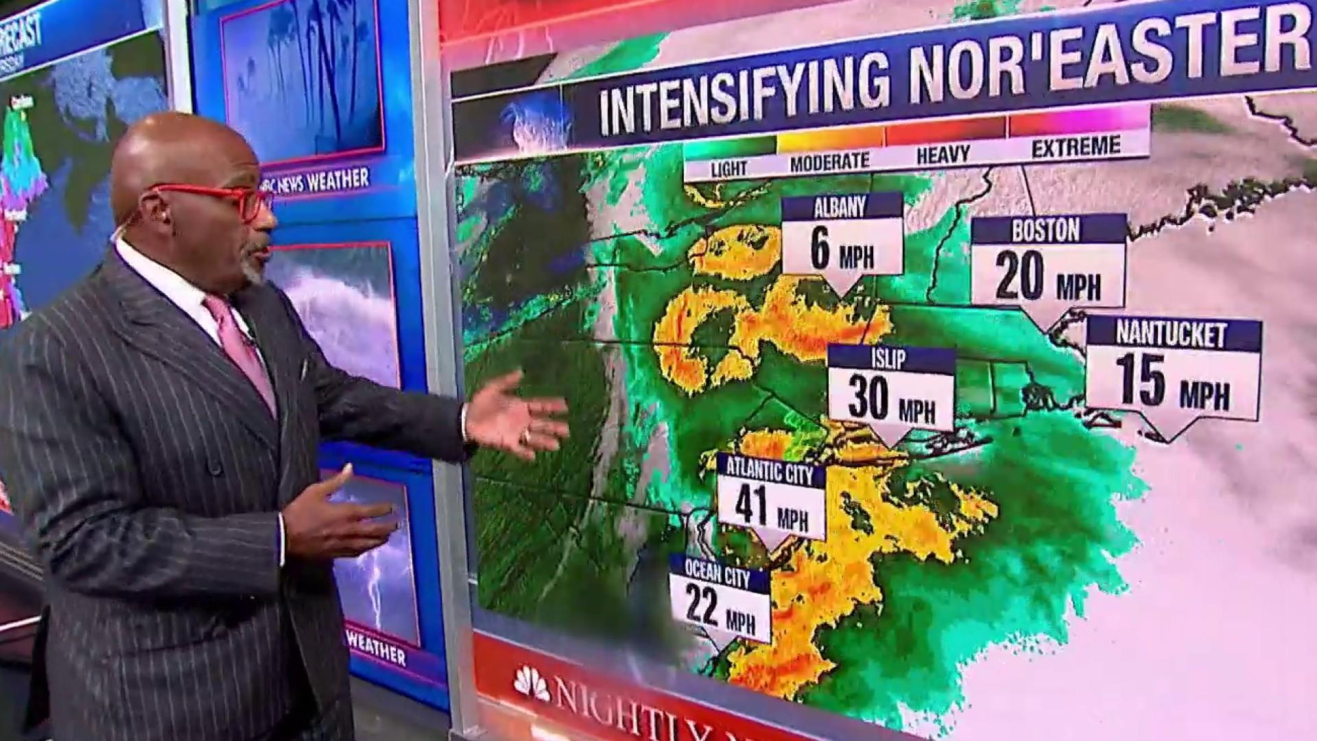 Nor'easter set to slam the east coast with heavy winds and rain