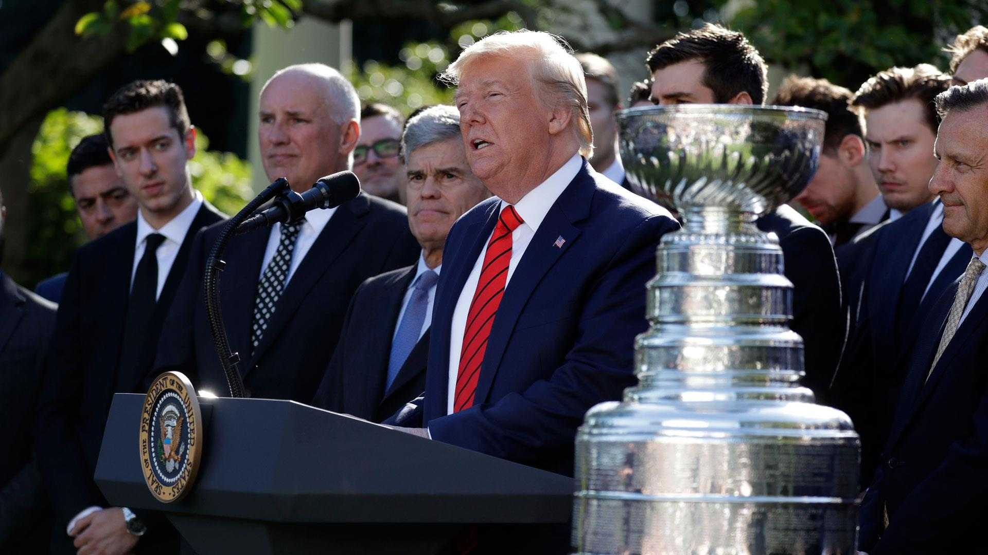 Trump randomly brings up impeachment while honoring 2019 Stanley Cup Champions