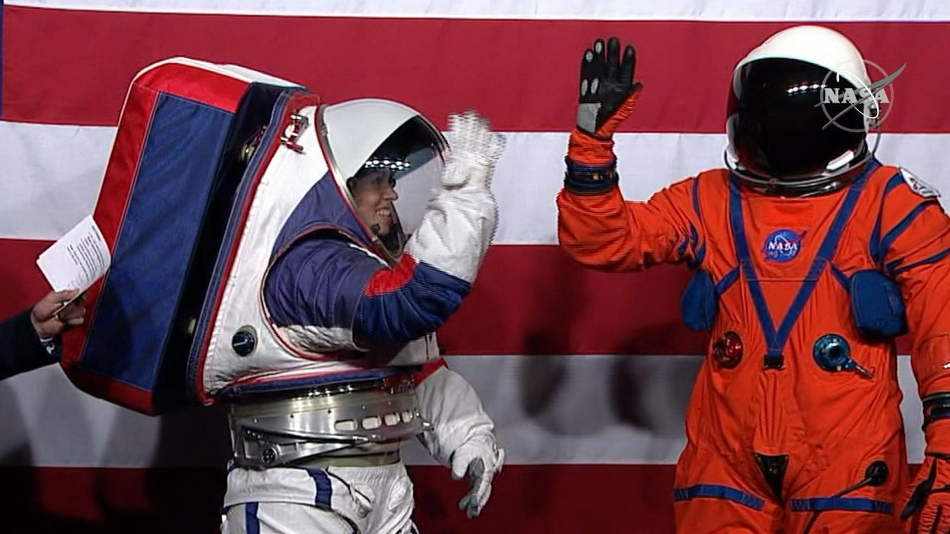 NASA unveils new spacesuits astronauts will wear on the moon, Mars