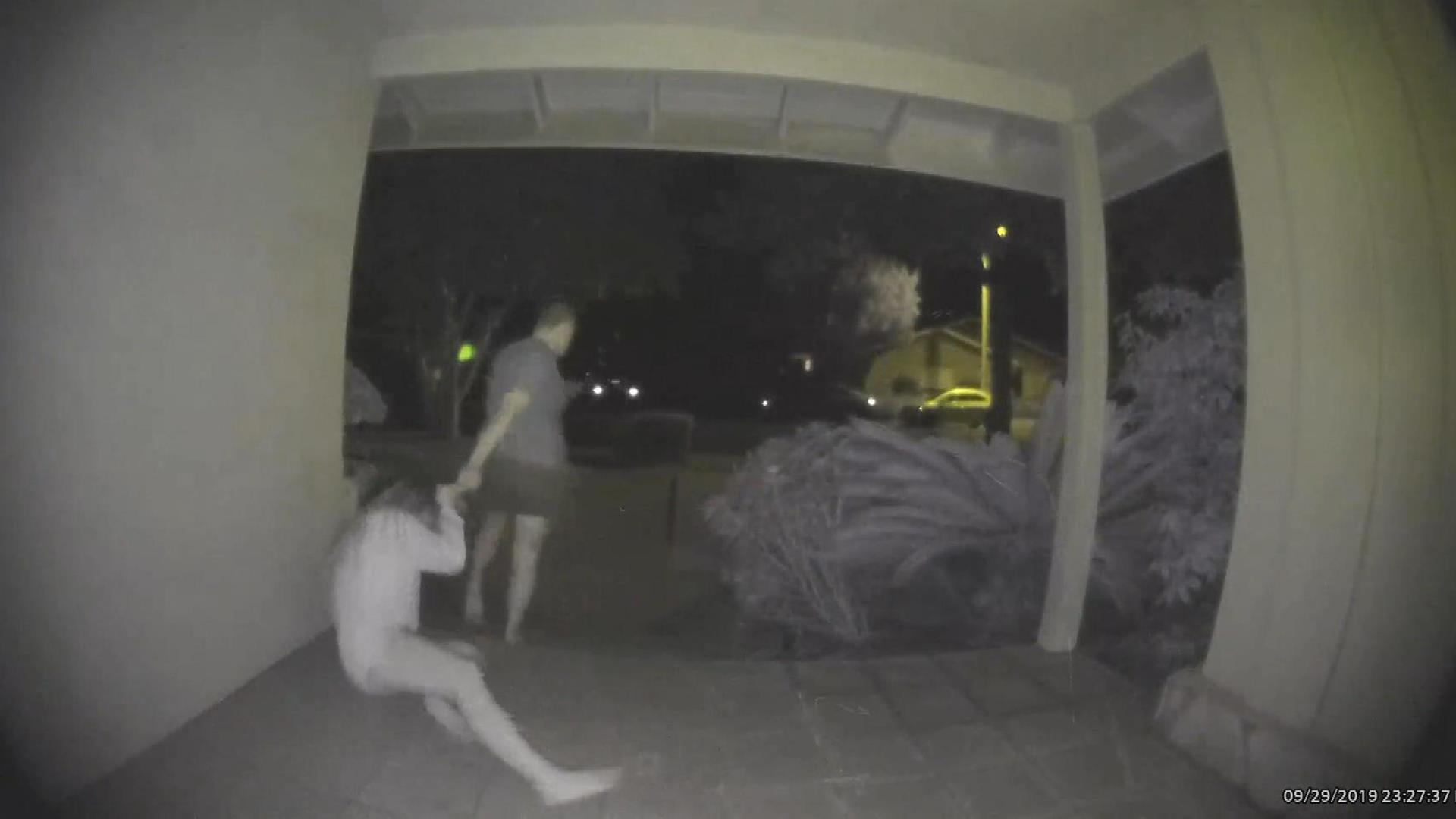 Doorbell camera appears to show man brutally assaulting woman in California