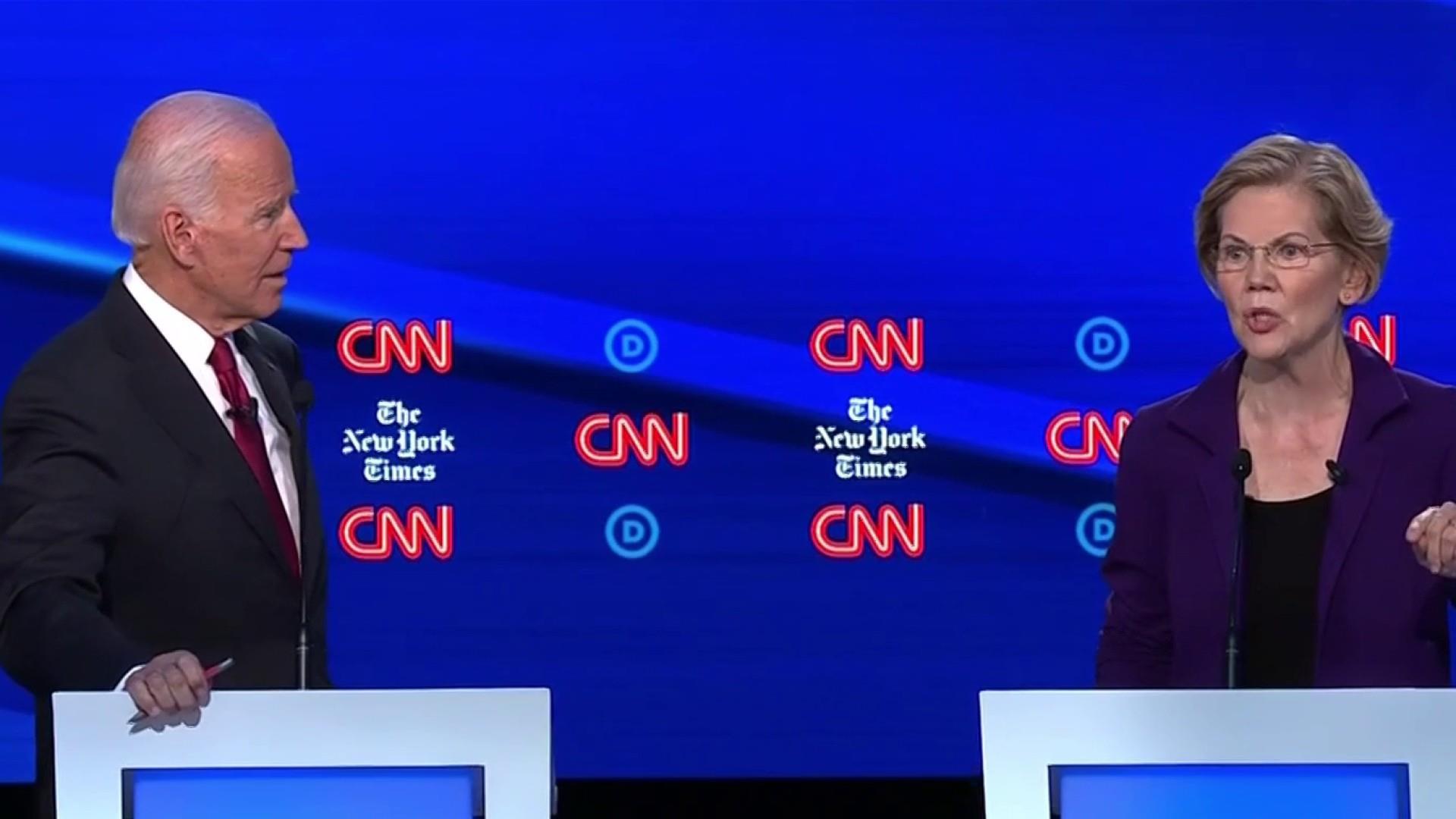 Biden and Warren's relationship shows strain during debate