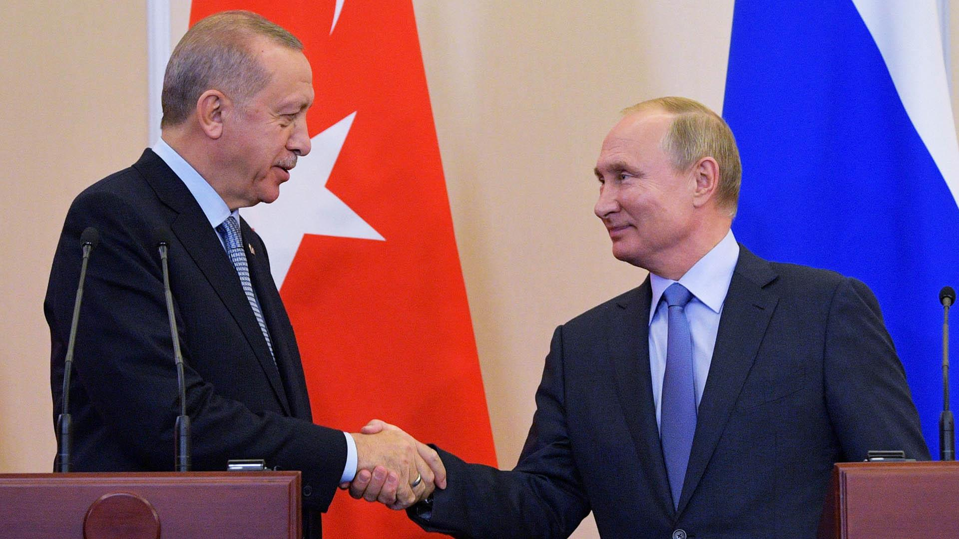 Putin and Erdogan meeting, Russia and Turkey strike a deal in northern Syria