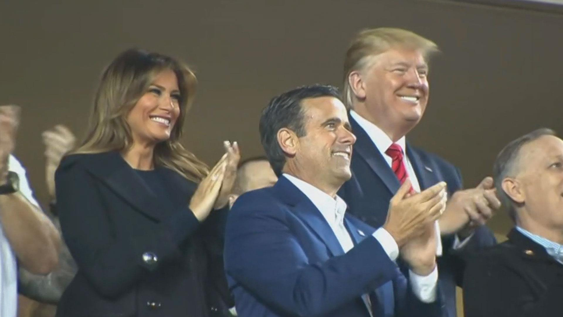 Trump showered with boos, chants of 'lock him up' at World Series game