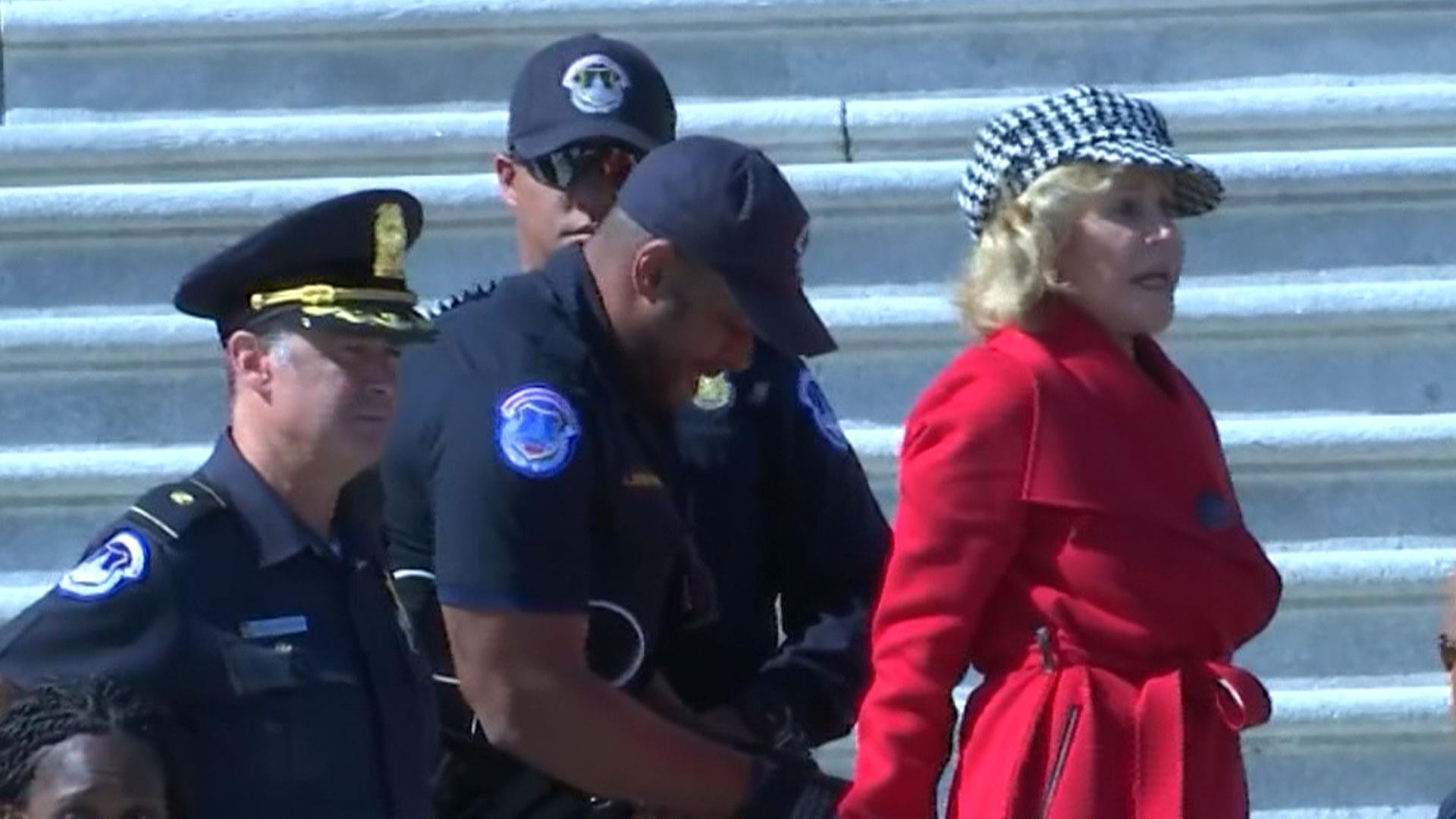 Jane Fonda arrested at U.S. Capitol during climate protest