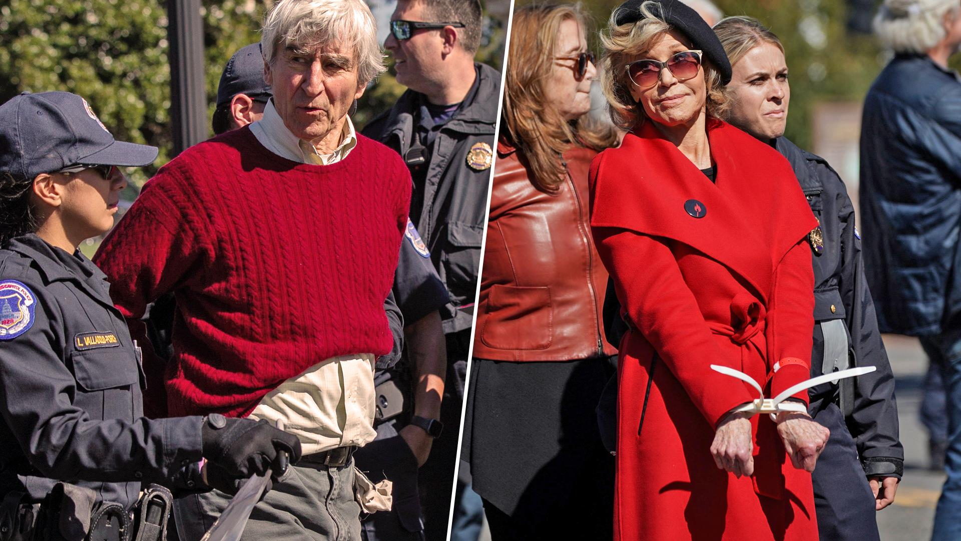Jane Fonda, Sam Waterston arrested at U.S. Capitol climate protest
