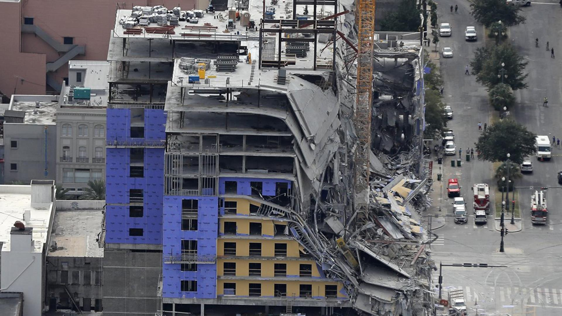 Watch live: Cranes above collapsed Hard Rock Hotel demolished in New Orleans