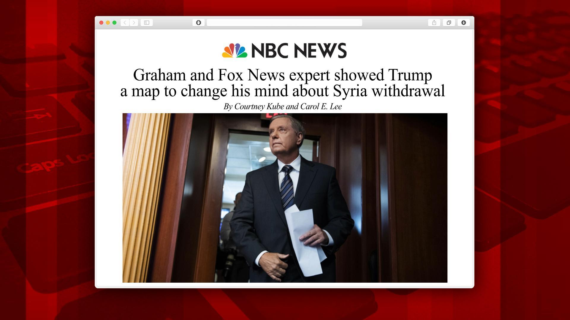 Trump allies used map to change his mind about Syria