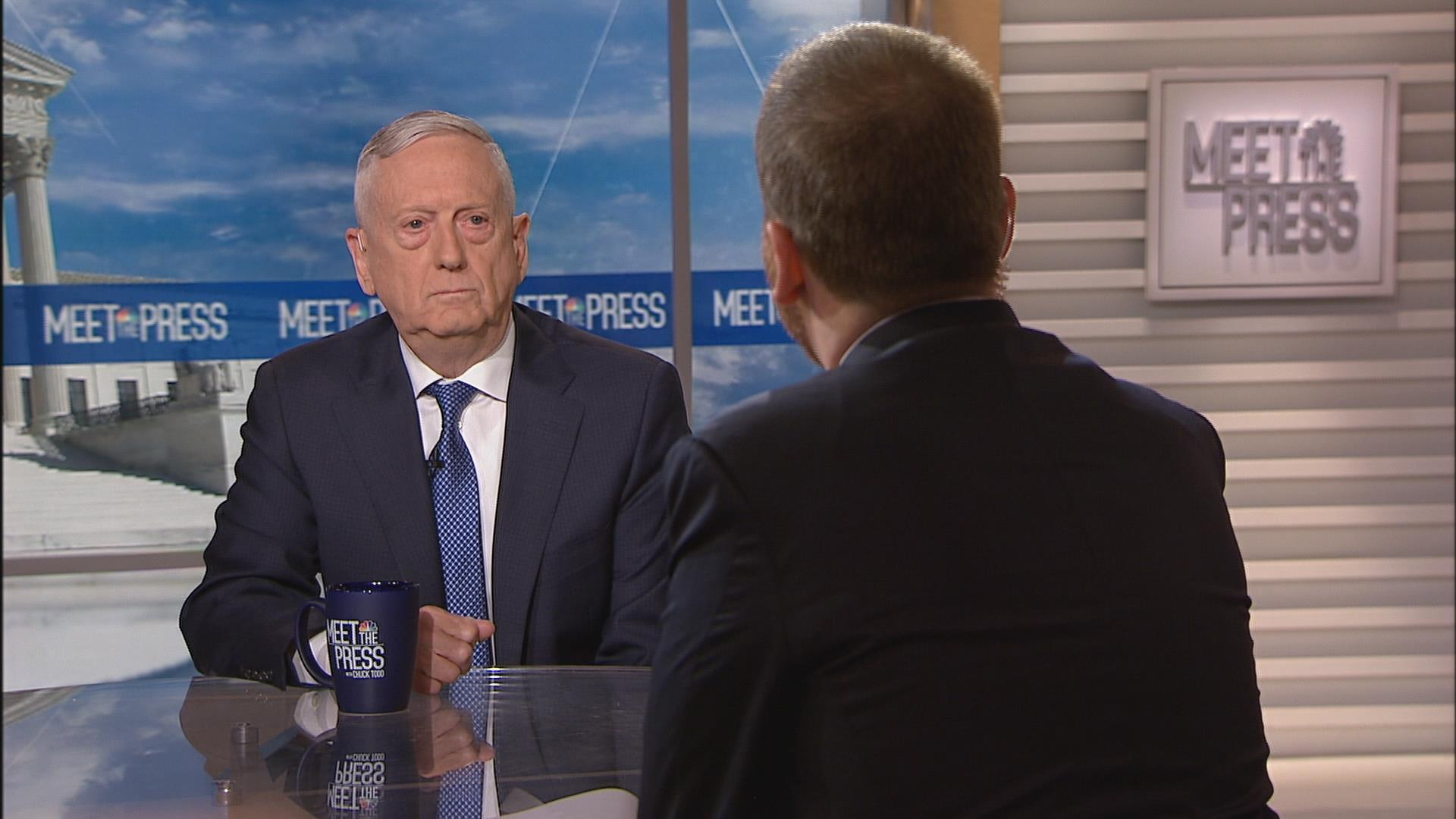 Mattis: 'I don't know what more I could say'