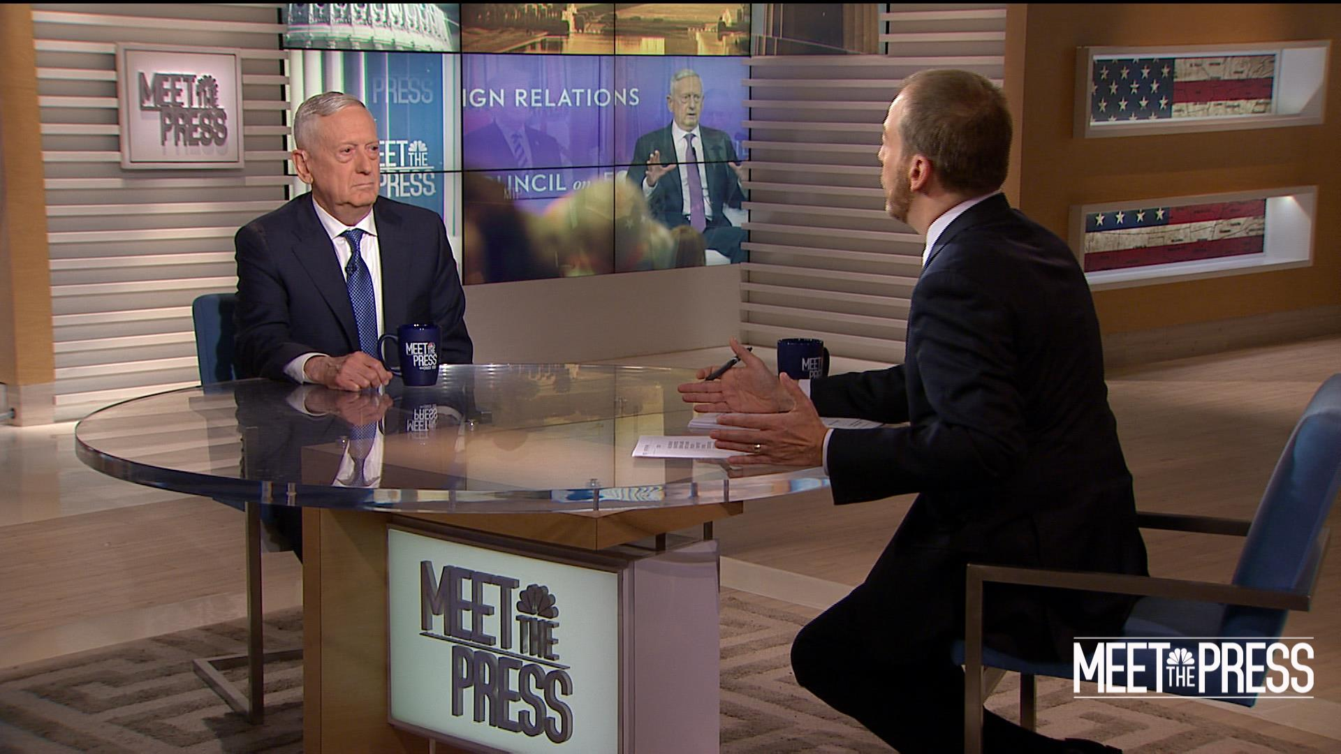 Full Mattis: Americans 'don't need military generals' getting involved in politics