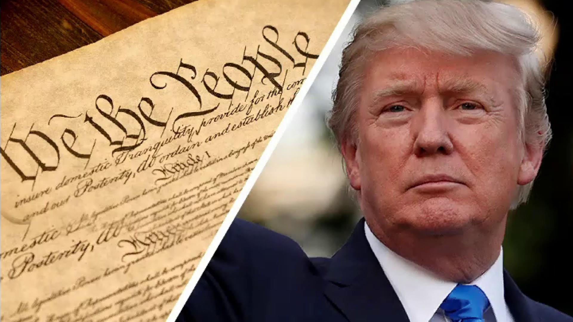 Trump says the 'phony' Constitution 'doesn't matter' because he's 'rich'