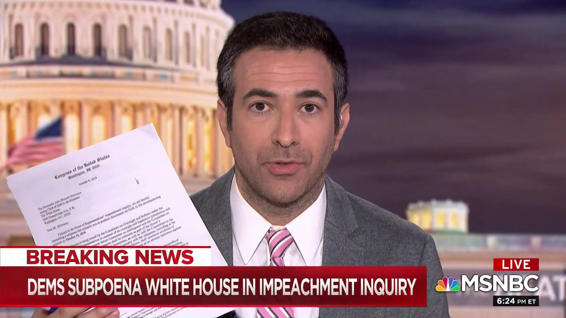 House Dems subpoena White House for key documents in impeachment inquiry