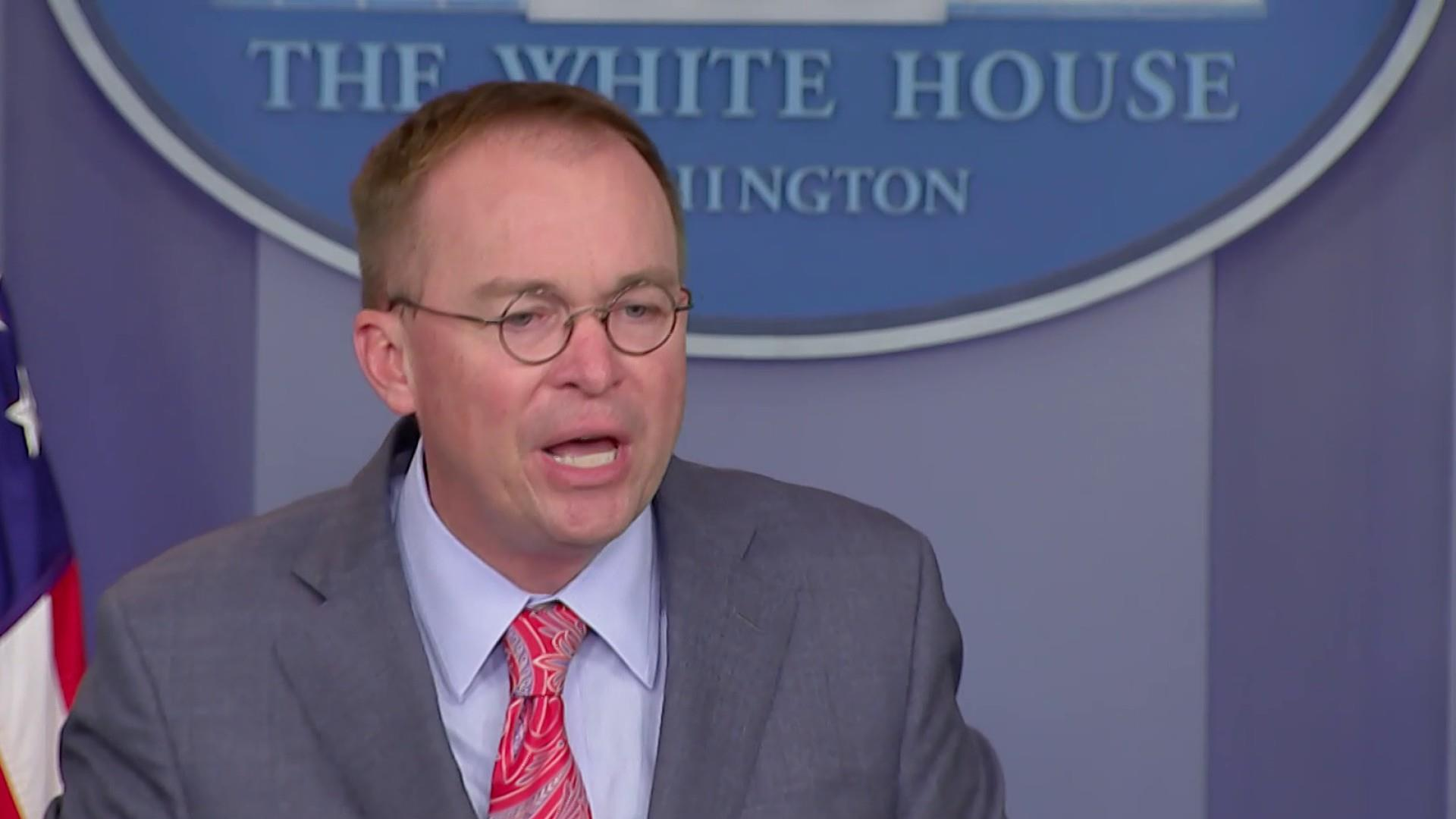 Politico: White House frustrated with Mulvaney's quid pro quo admission