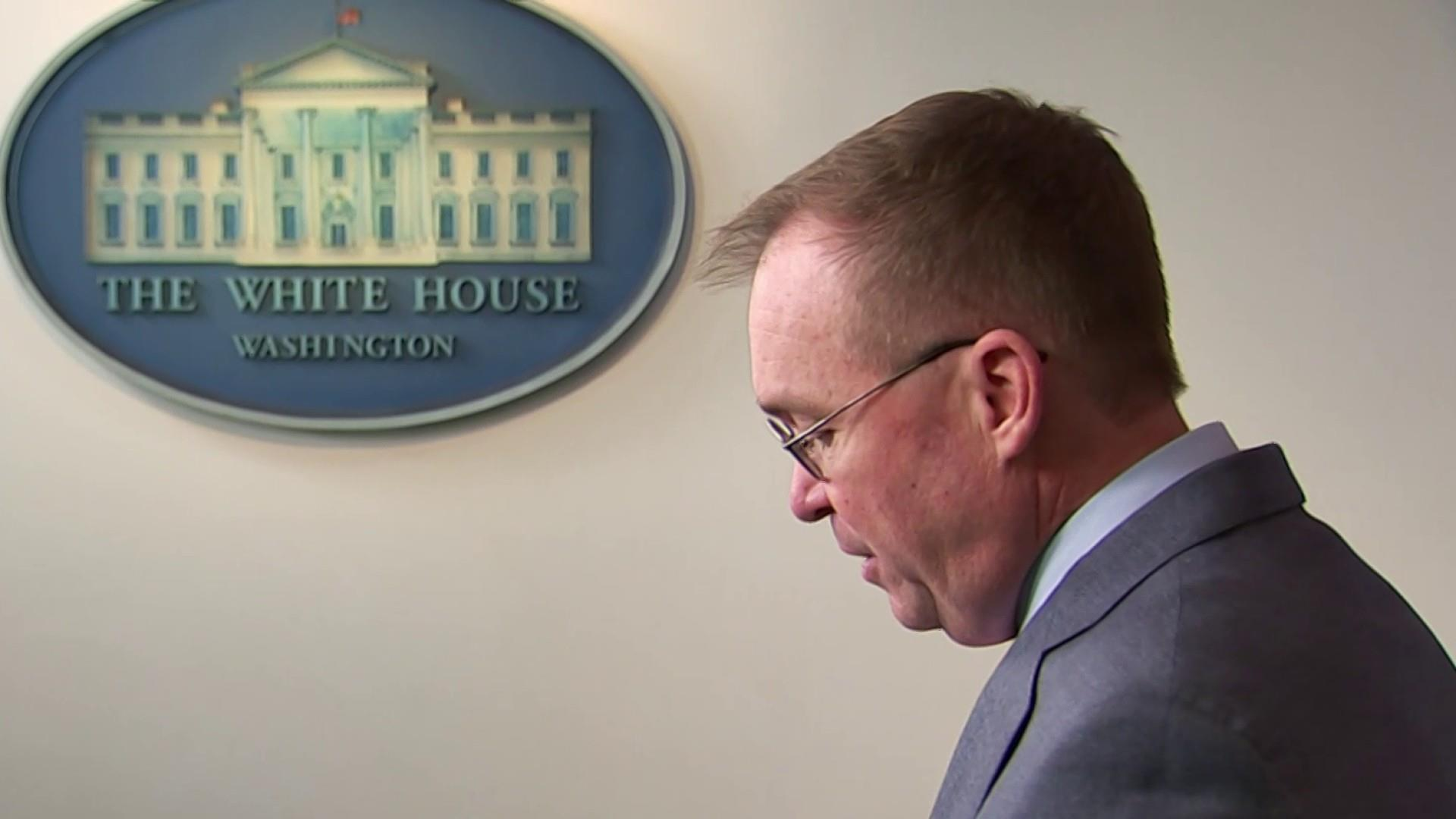 Mulvaney admits, tries to walks back that Trump held up Ukraine aid for political reasons