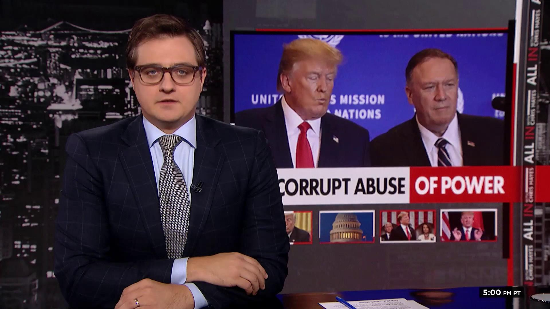 Chris Hayes: Pompeo is up to his eyeballs in Trump corruption