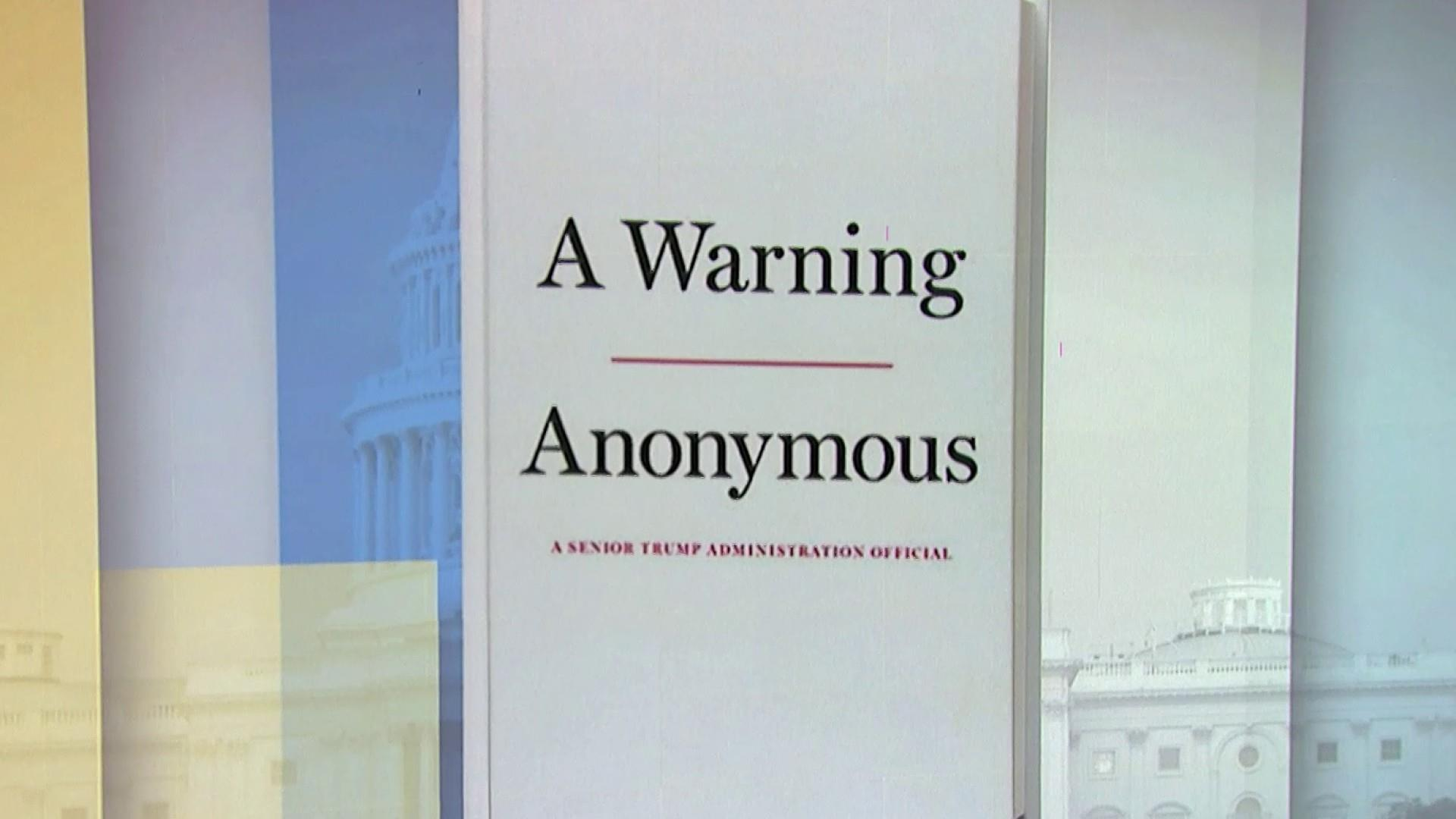 Trump official who wrote anonymous op-ed to release book