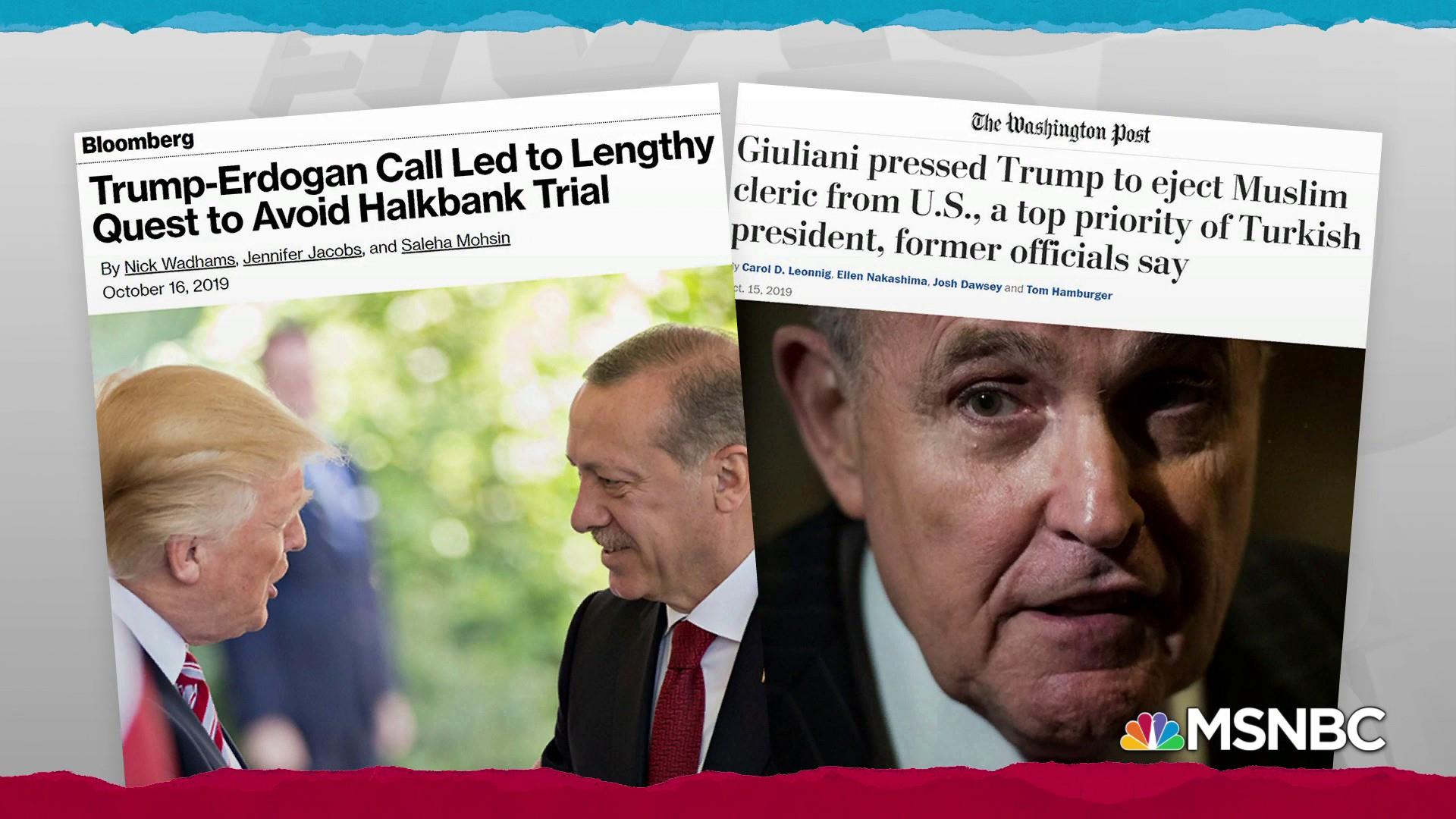 Reports suggest greater reach by Turkey into Trump administration