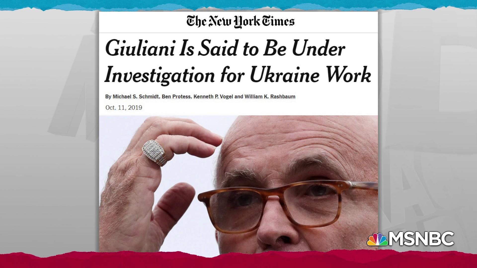 Giuliani under investigation for breaking lobbying laws: NYT