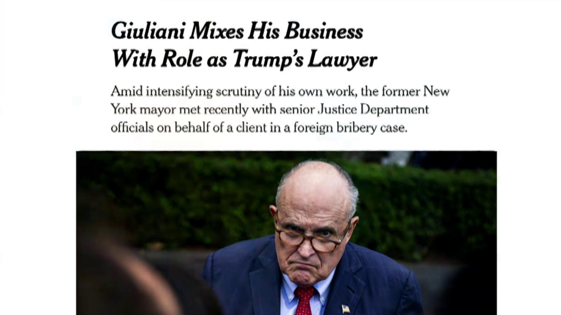 Giuliani lobbying Trump admin on behalf of foreign client: NYT