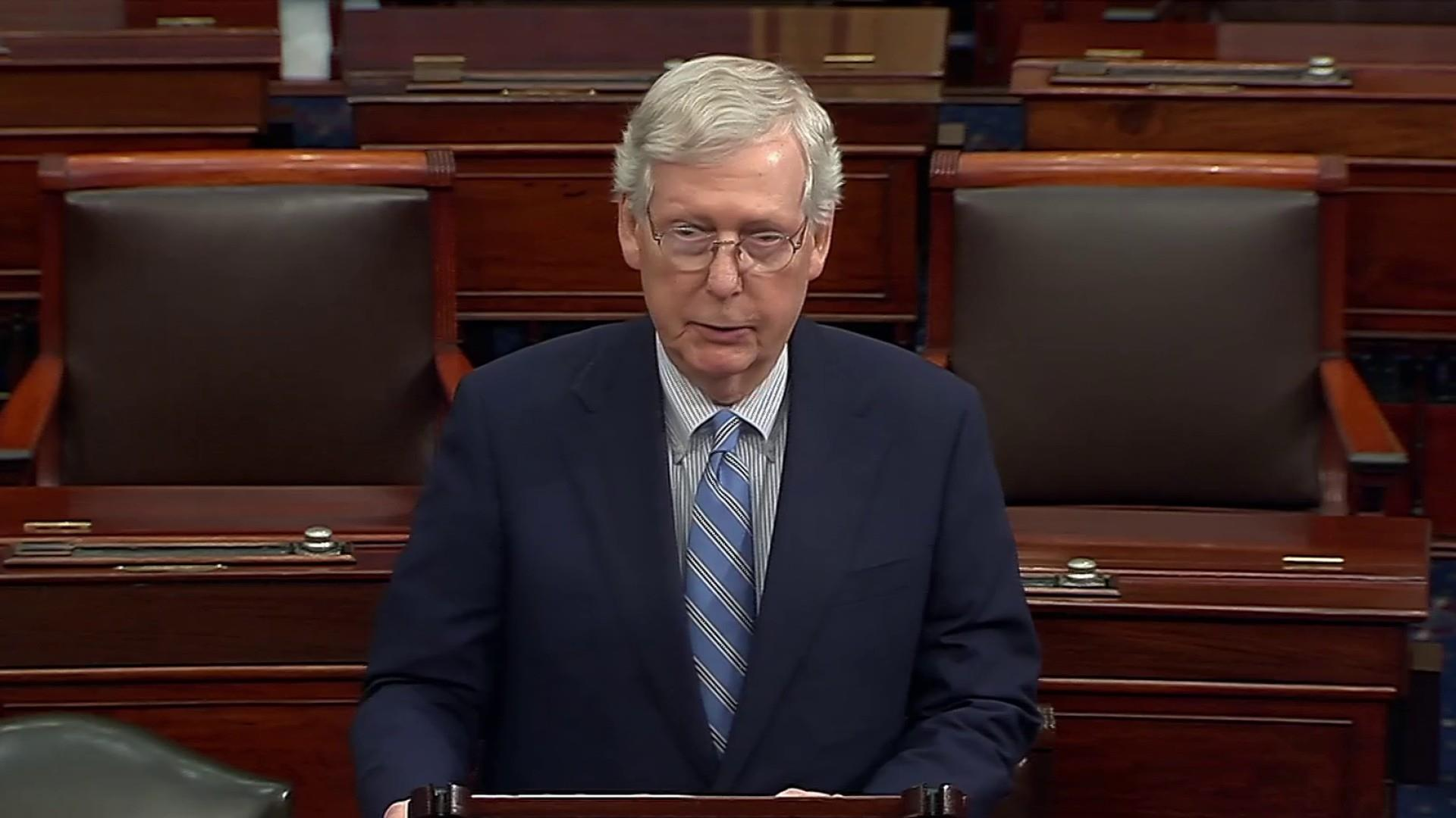 McConnell signals fast pace for Trump impeachment trial in Senate