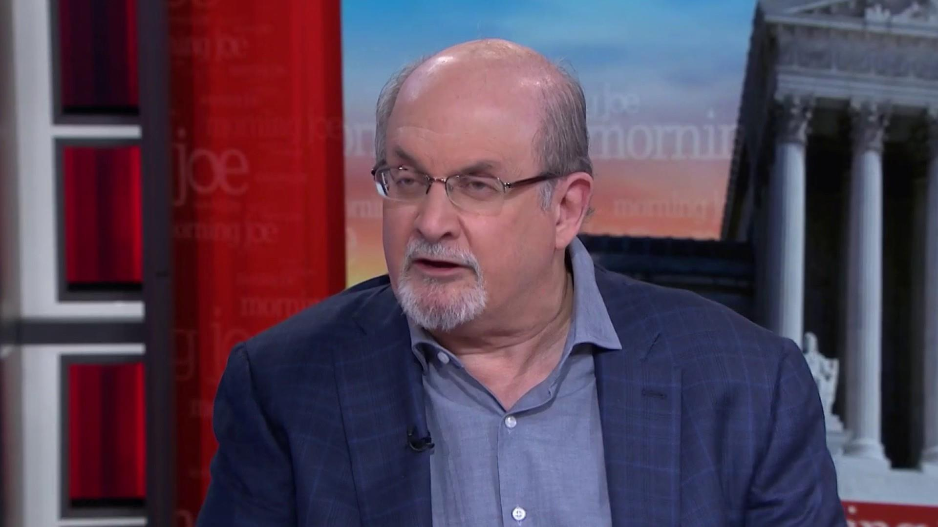 Rushdie on how his novel reflects the 'insane' current moment