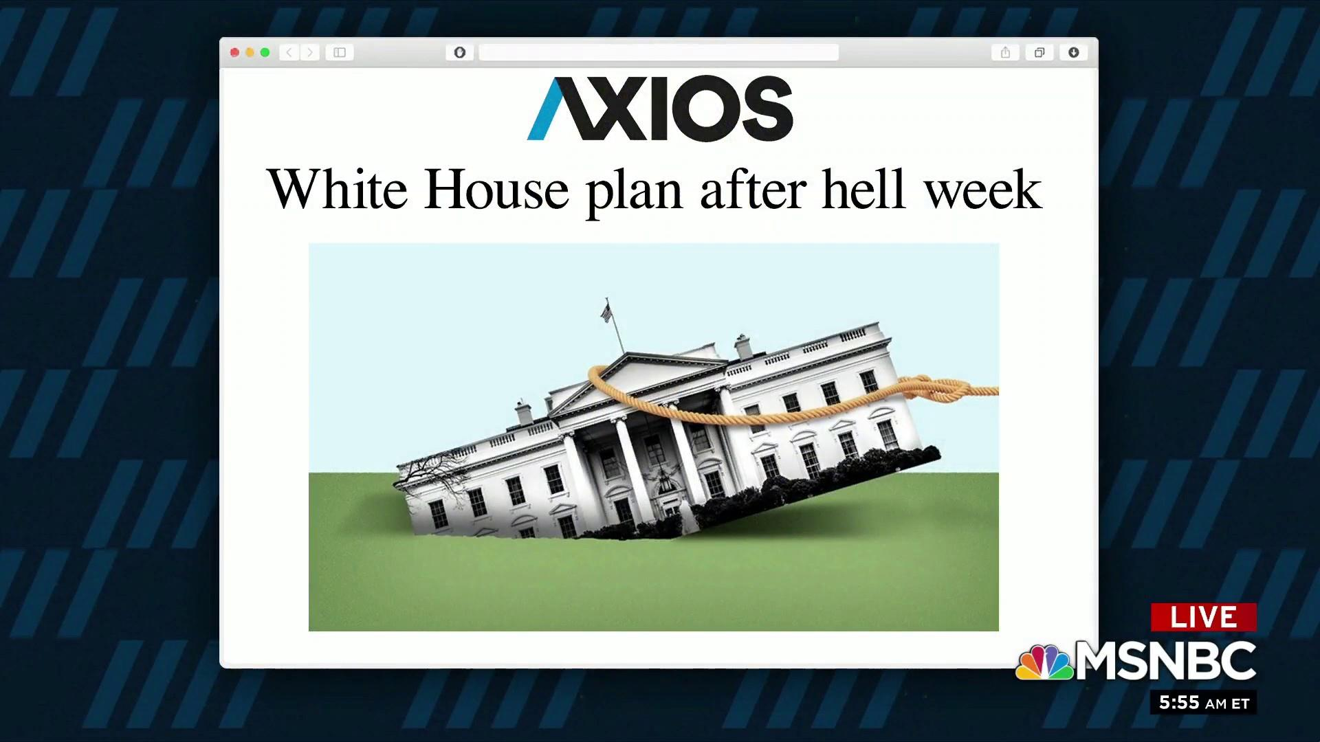 1 Big Thing: White House plan after hell week