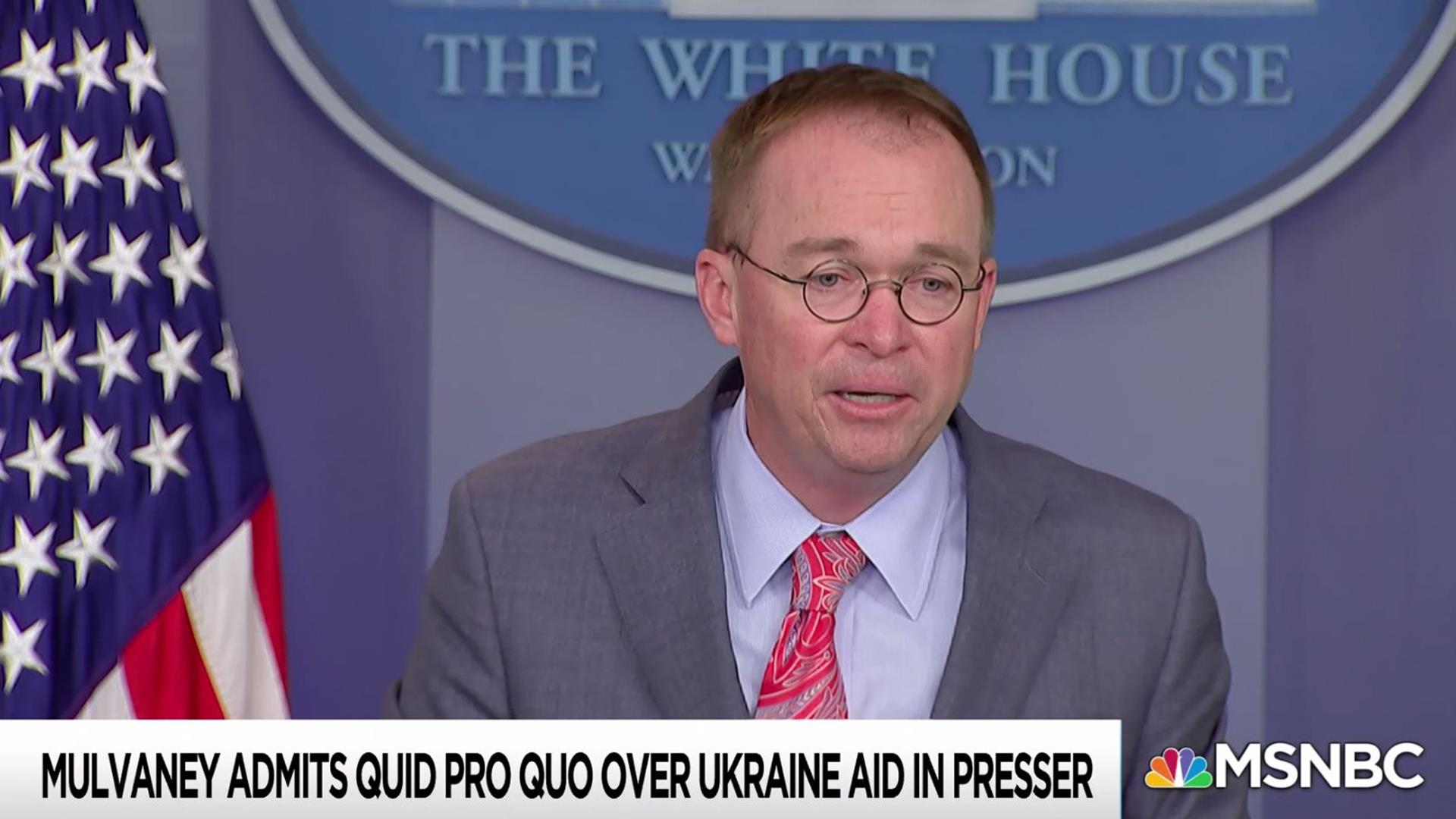 White House brazenly admits, then walks back Ukraine Quid Pro Quo