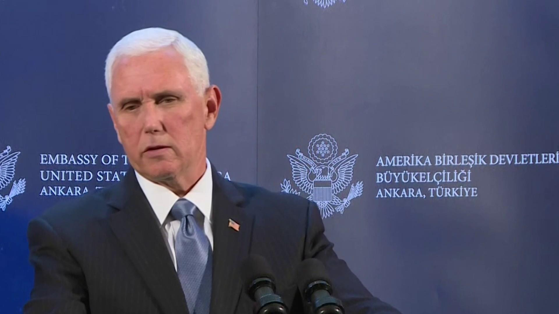 Pence announces the U.S. and Turkey have agreed to a ceasefire in Syria