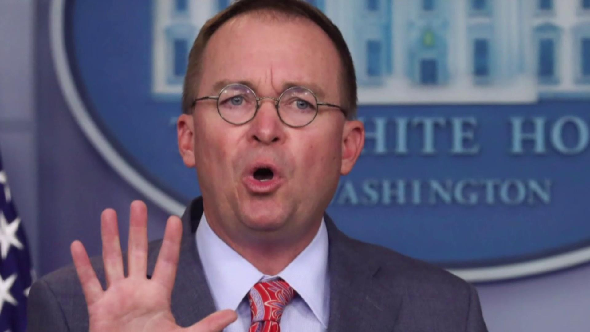 How much damage did Mick Mulvaney do yesterday?