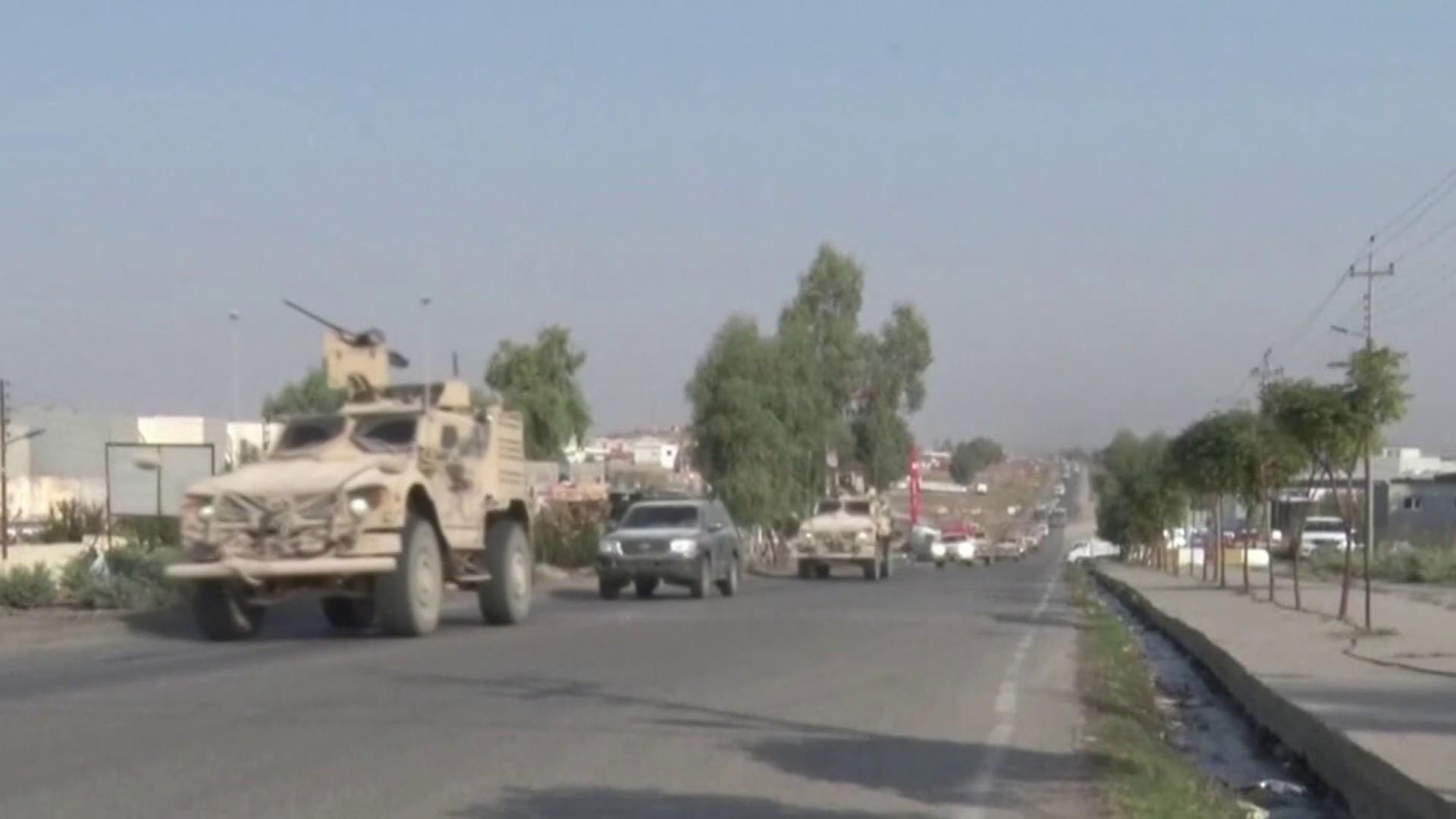 U.S. troops begin leaving Syrian border area