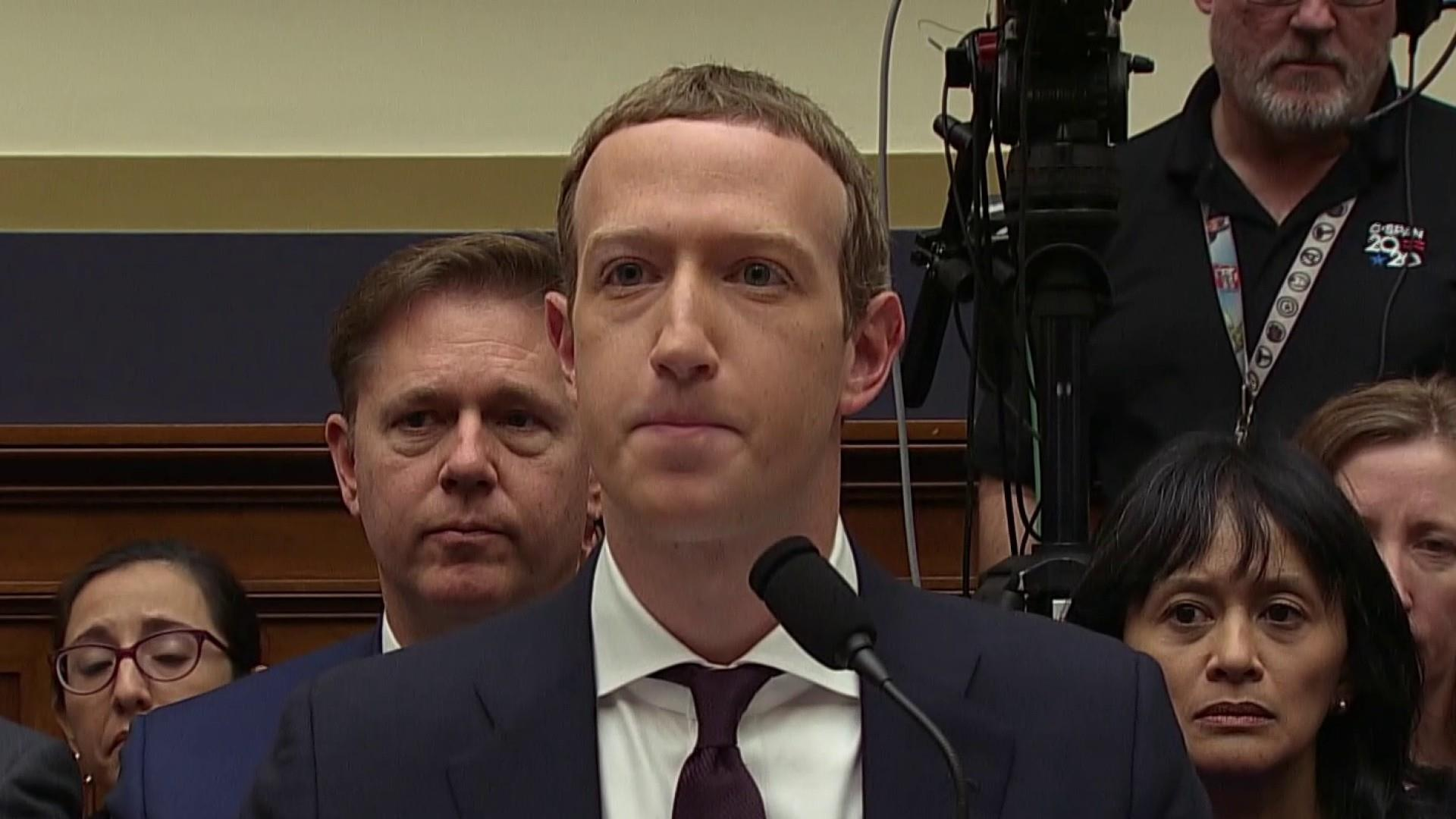 Zuckerberg testifies on Facebook's cryptocurrency