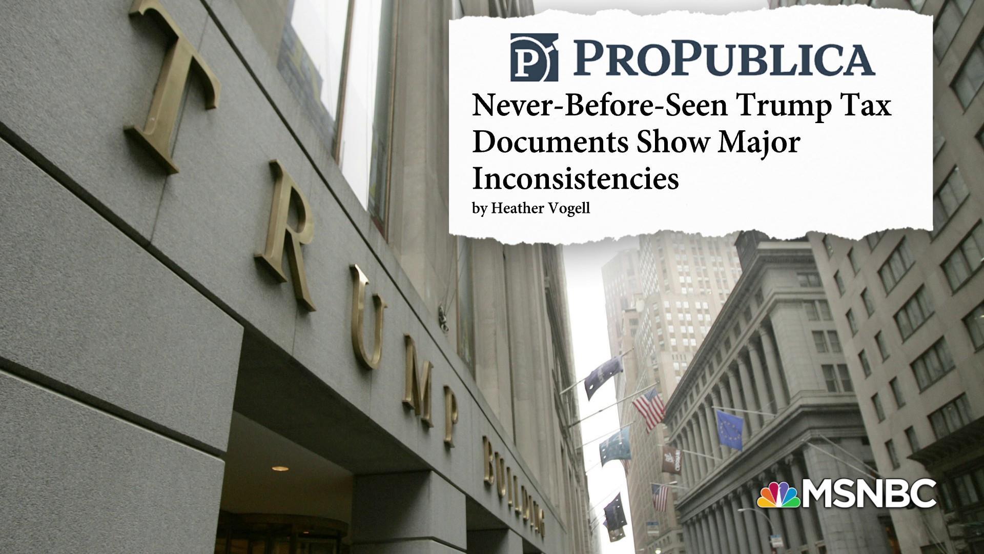 ProPublica: Never-before-seen Trump tax docs show major inconsistencies
