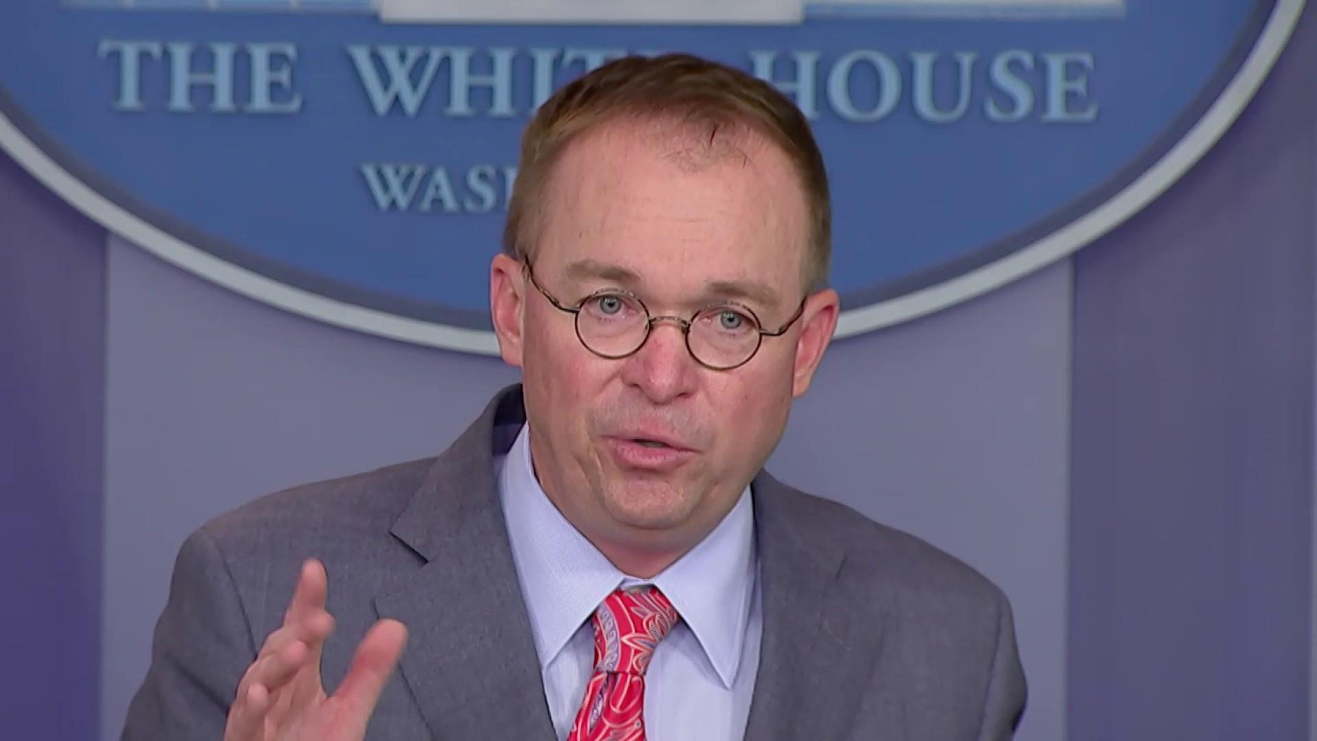 'It happens all the time': Mulvaney tells reporter to 'get over it' after quid pro quo admission