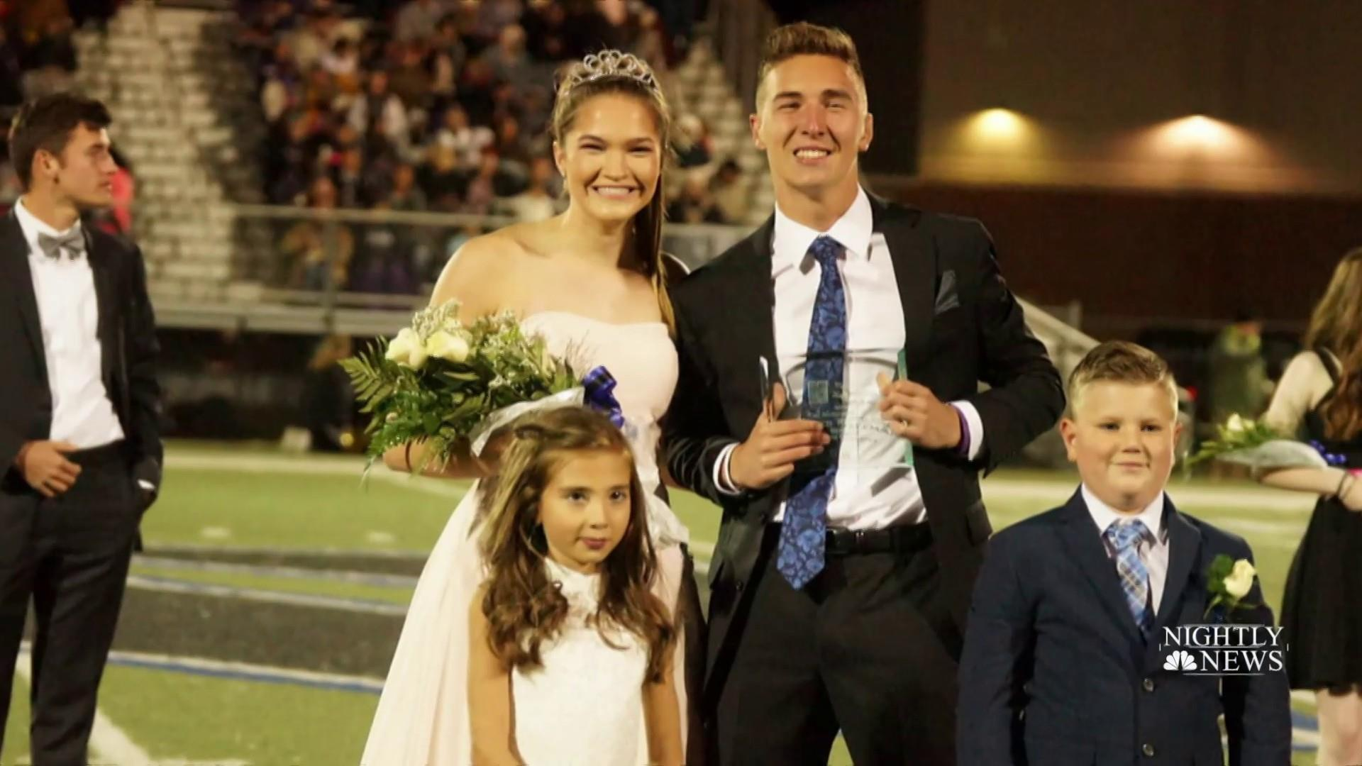 Inspiring running champion crowned homecoming king