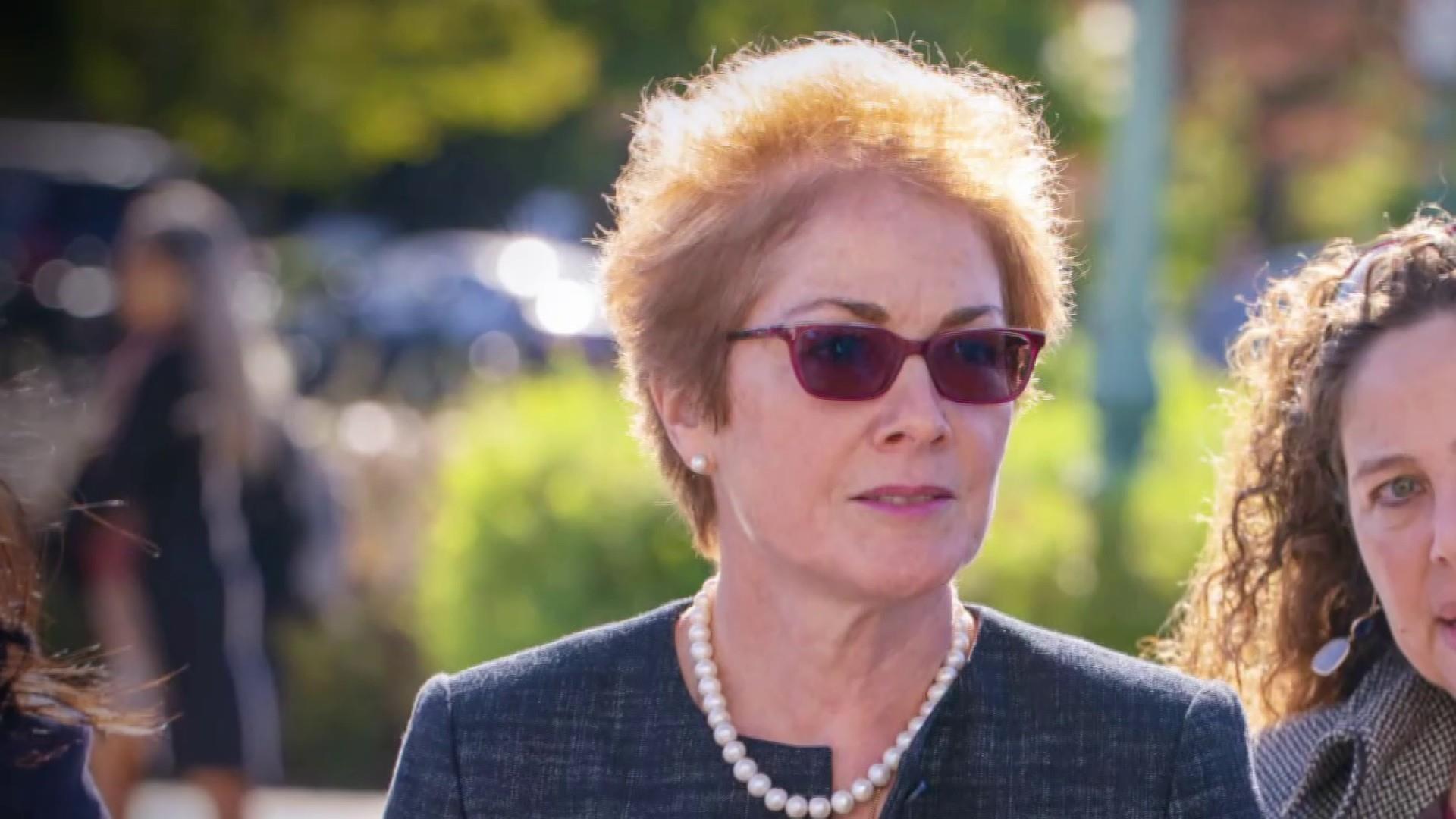 Former Ukraine ambassador testifies Trump pressured State Department to remove her
