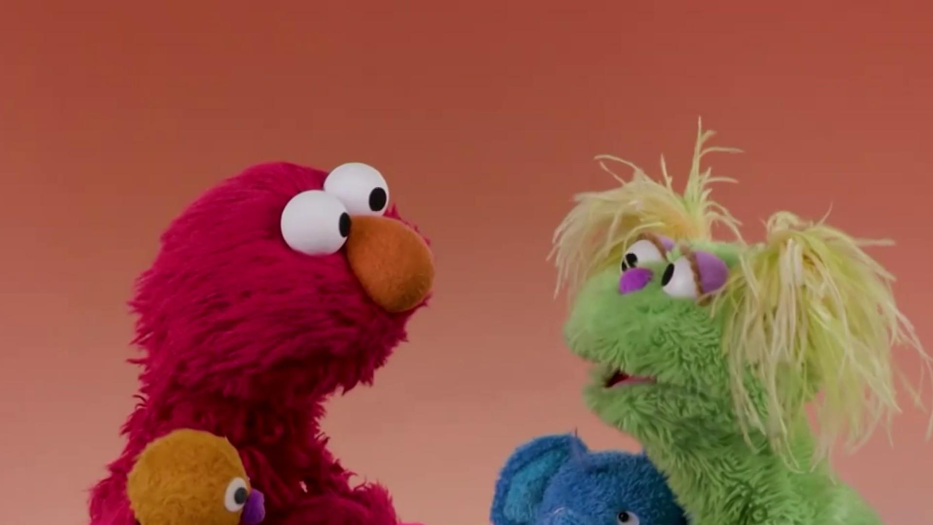 Yellow-haired Muppet Karli helps 'Sesame Street' tackle addiction