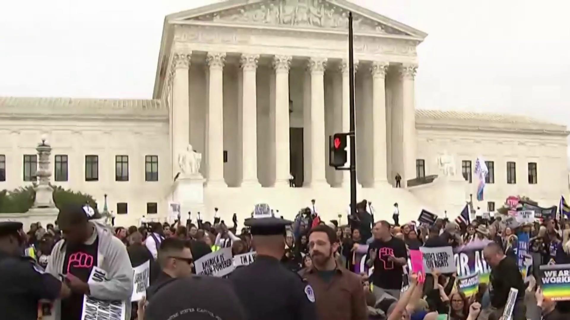 Supreme Court appears divided over LGBTQ job discrimination